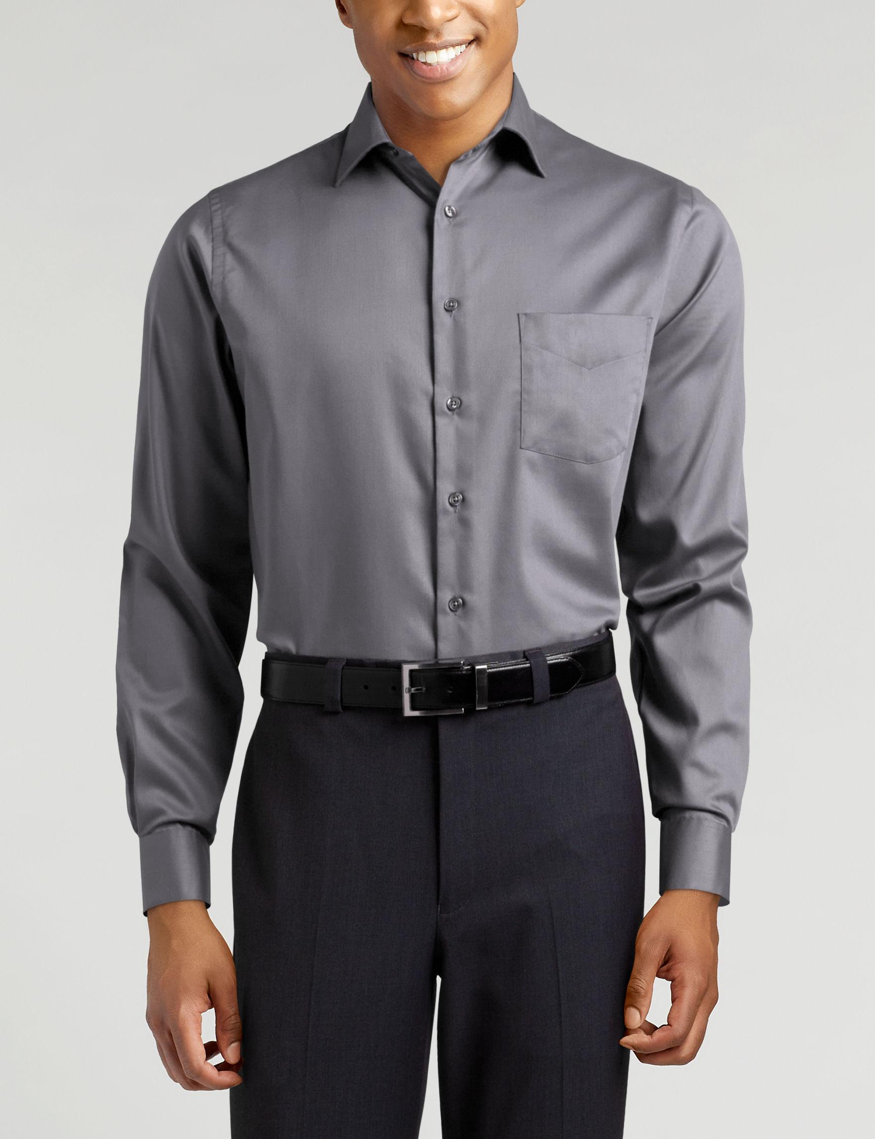 Van Heusen Grey Dress Shirts