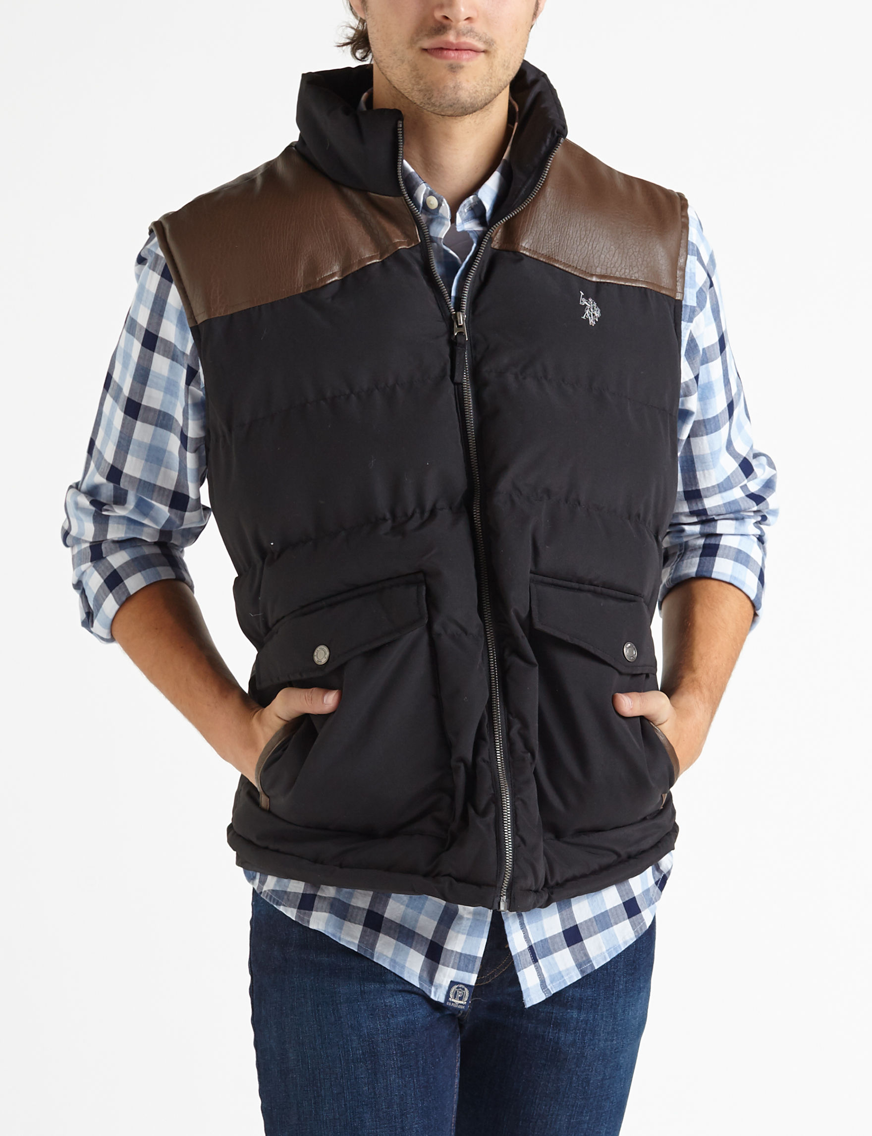 U.S. Polo Assn. Black Vests