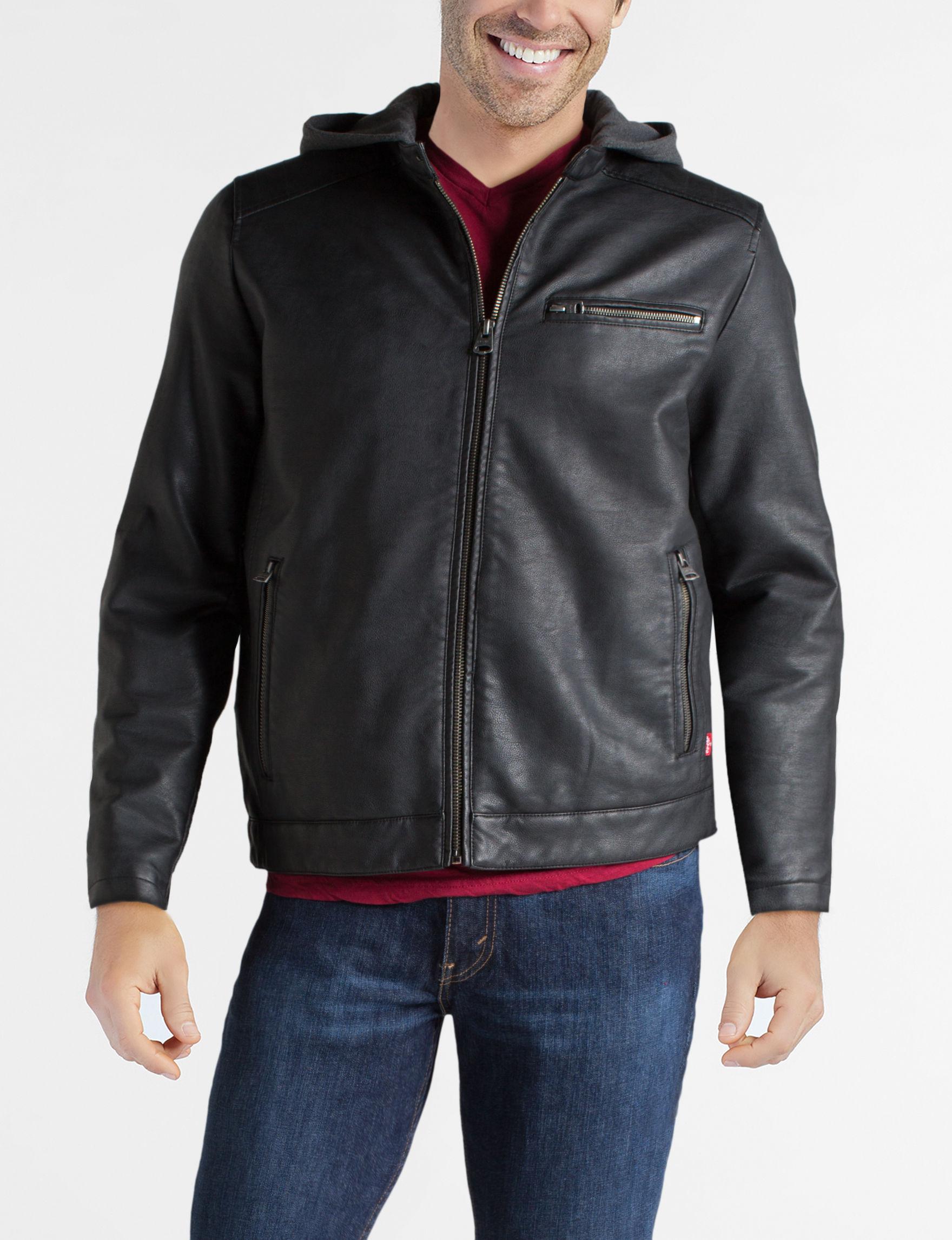 Levi's Black Bomber & Moto Jackets