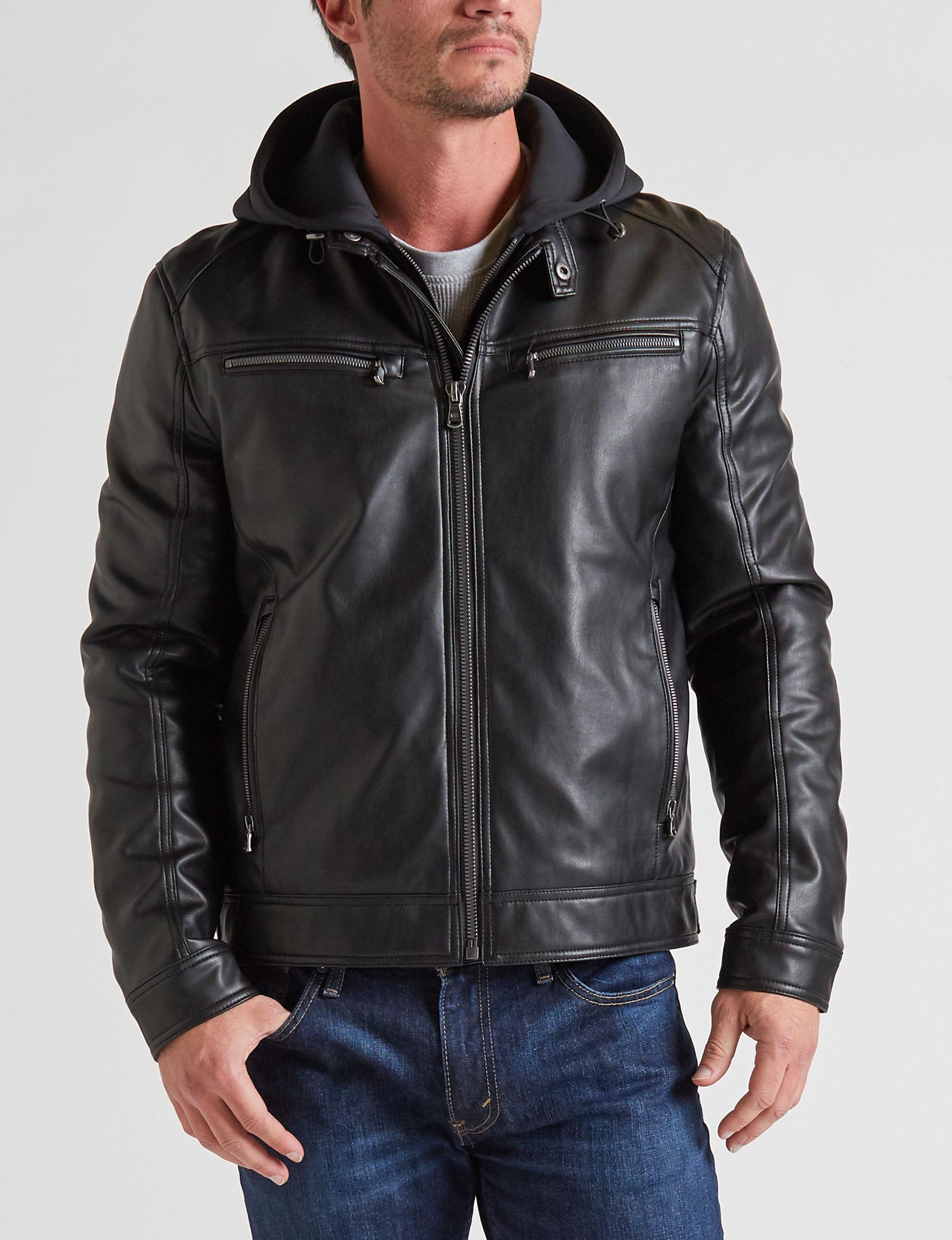 Michael Kors Black Bomber & Moto Jackets