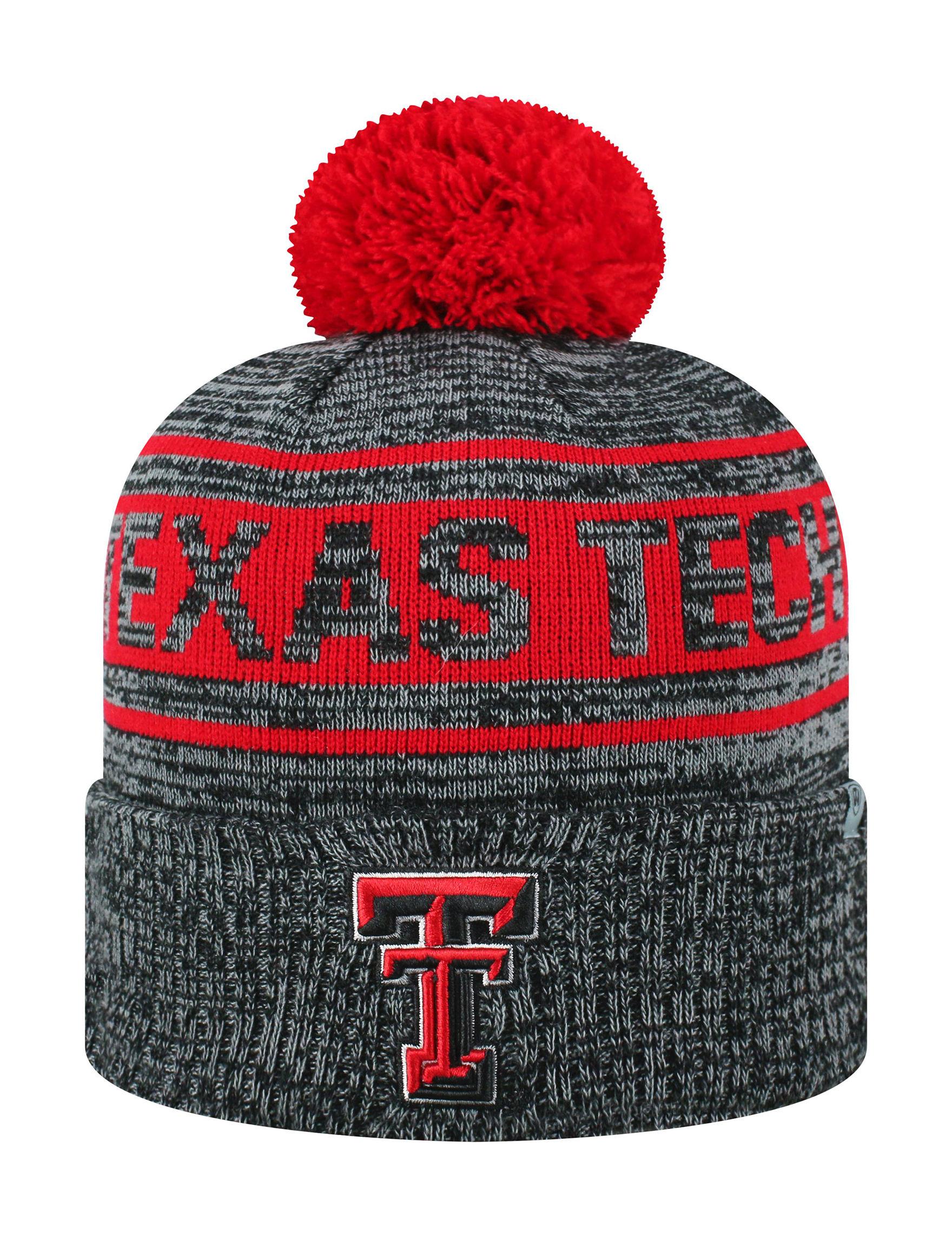 NCAA Grey / Red Hats & Headwear