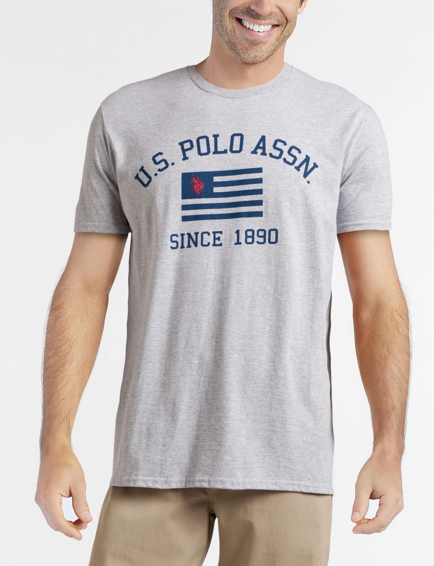 U.S. Polo Assn. Grey Tees & Tanks