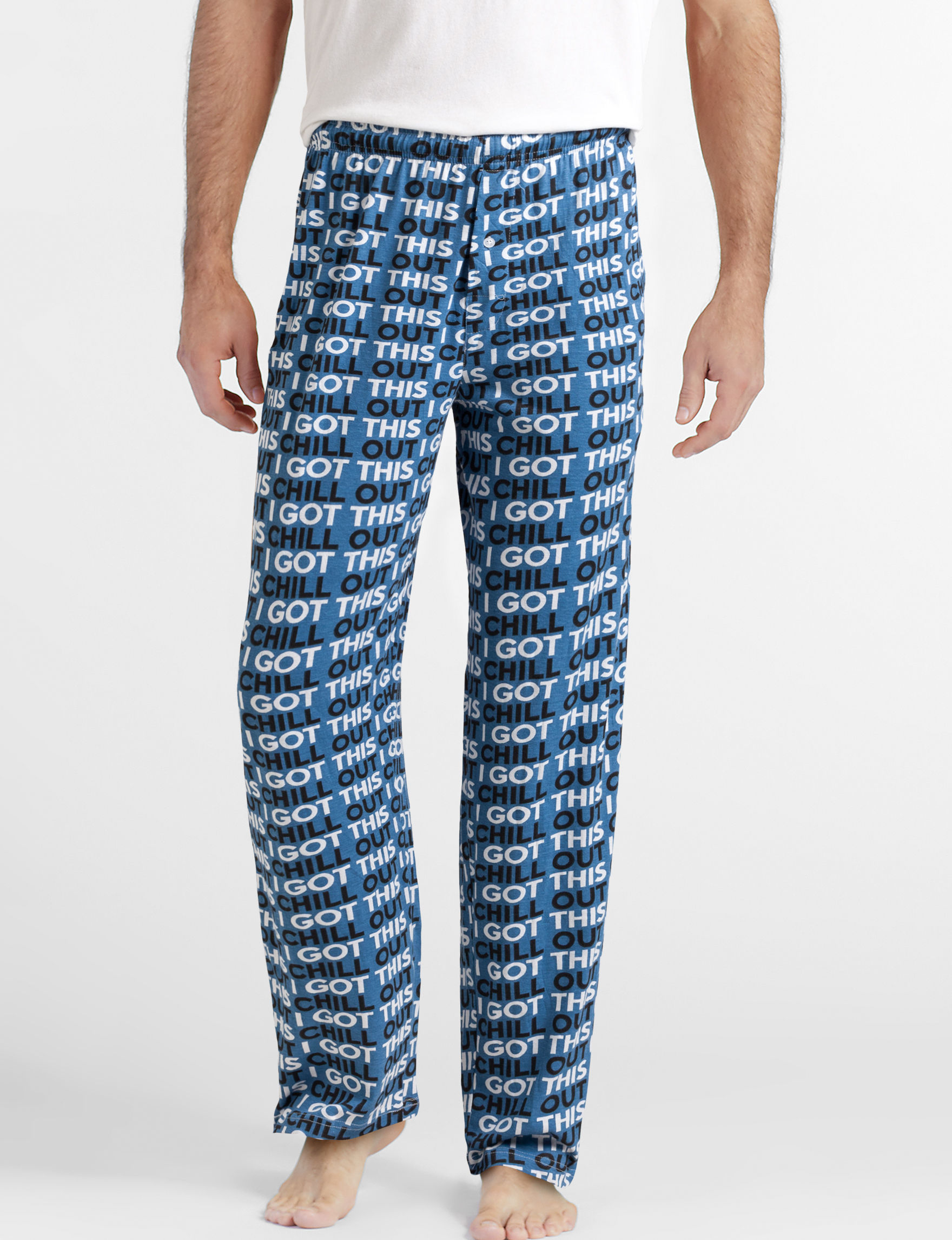 Fun Boxer Blue Pajama Bottoms