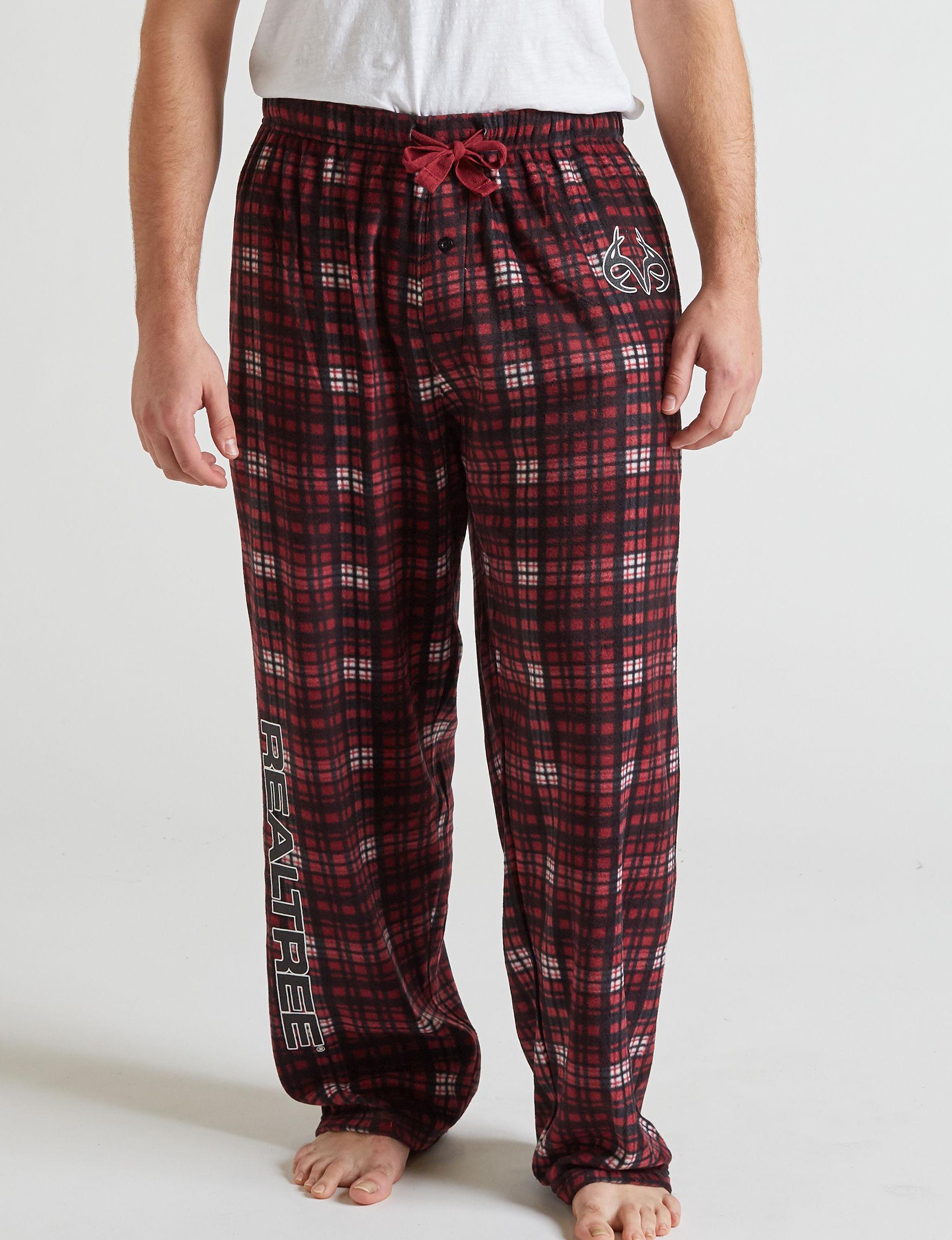Realtree Red Plaid Pajama Bottoms