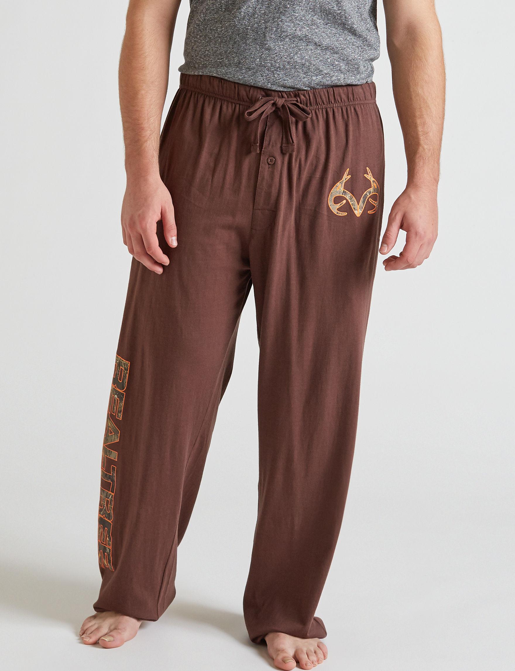 Realtree Dark Brown Pajama Bottoms