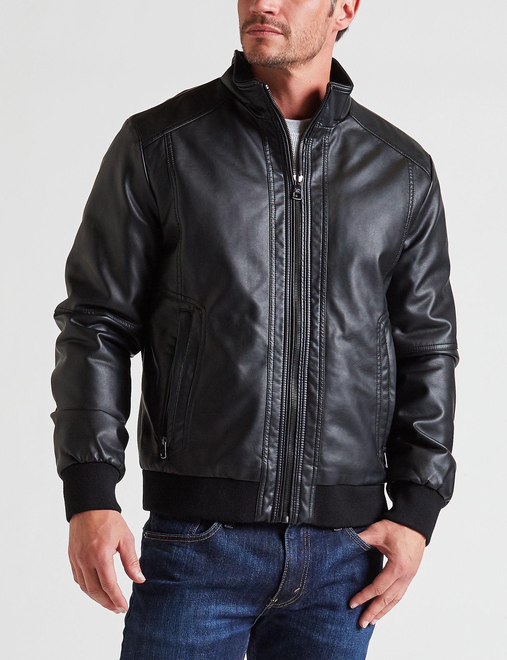 Calvin Klein Black Bomber & Moto Jackets