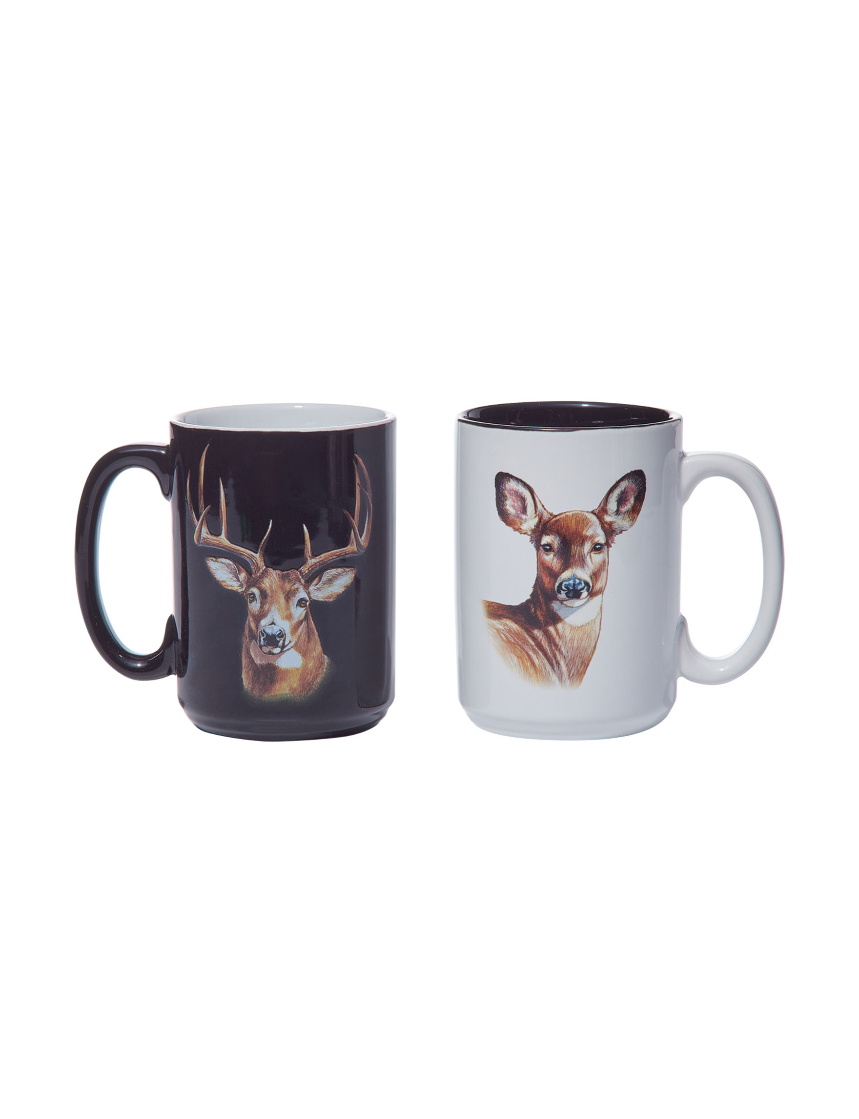 American Expedition White / Black Mugs Drinkware