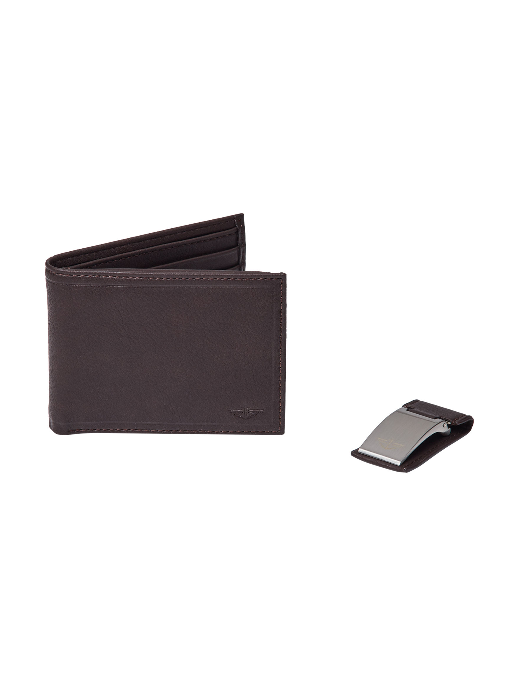 Dockers Black Bi-fold Wallets Money Clips