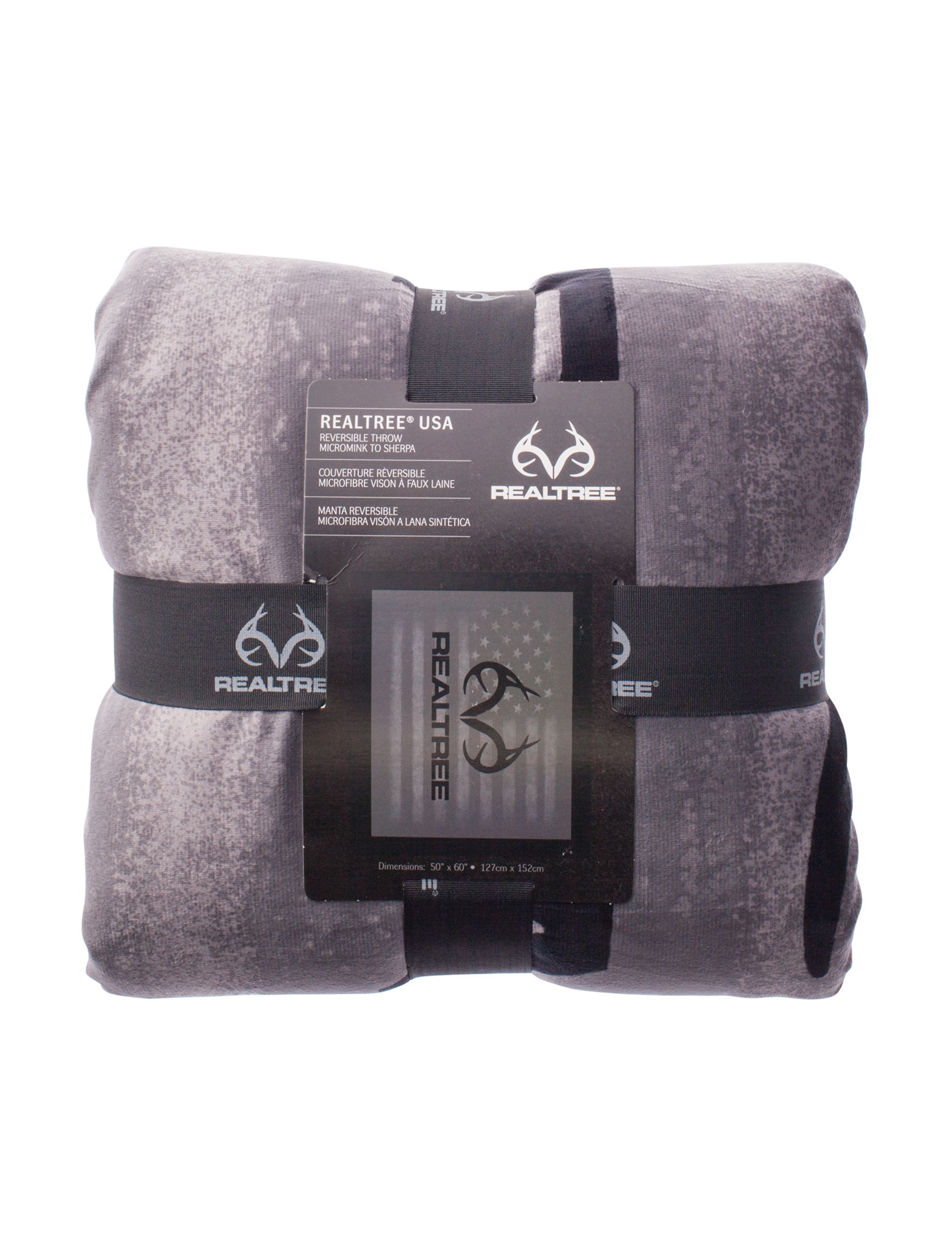 Realtree Grey Blankets & Throws