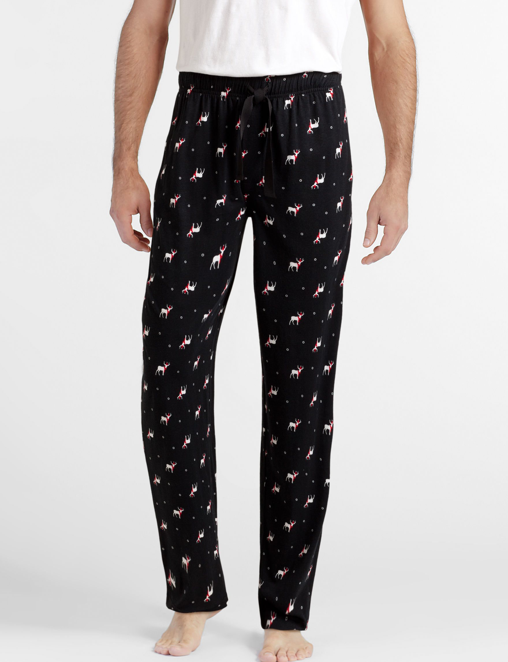 Ivy Crew Black / White Pajama Bottoms