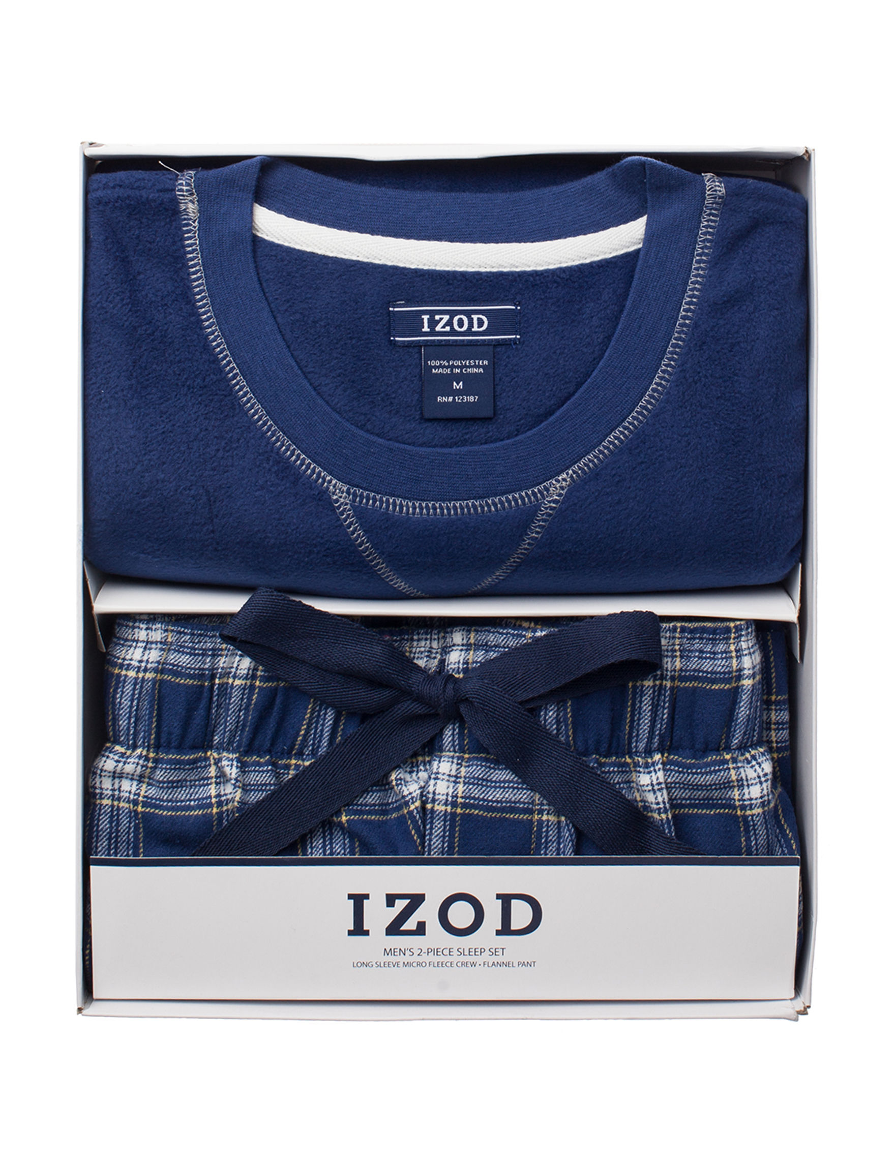Izod Navy Pajama Sets