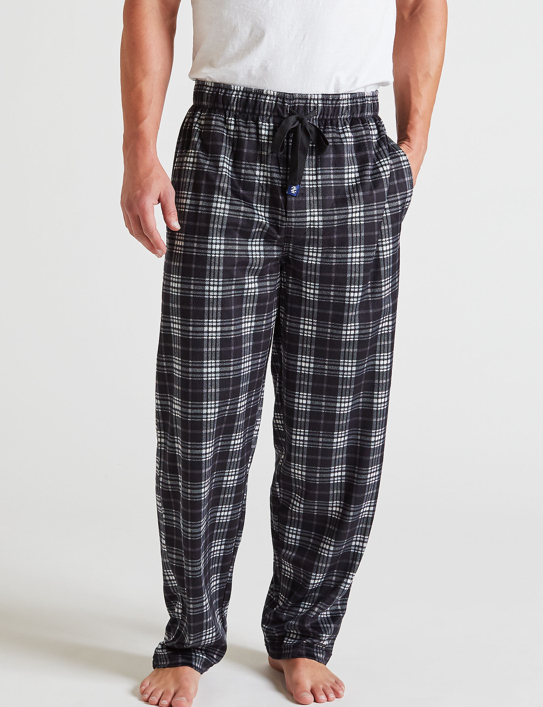 Izod Black / White Pajama Bottoms