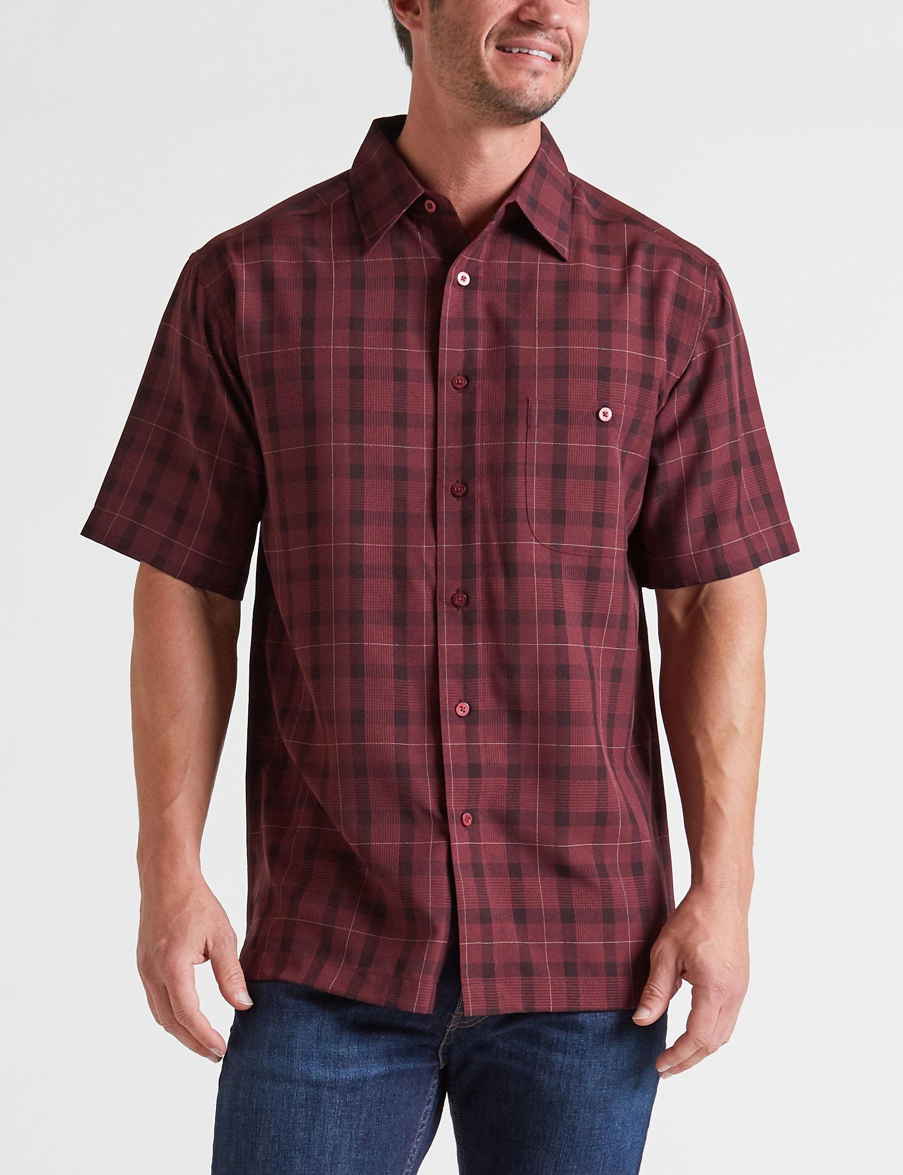 Haggar Wine Casual Button Down Shirts