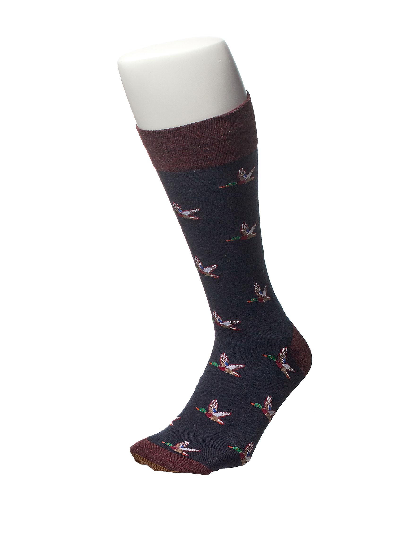 Gold Toe Midnight Blue Socks