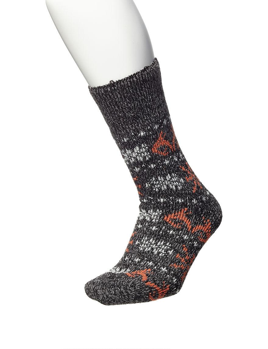 Realtree Heather Black Socks