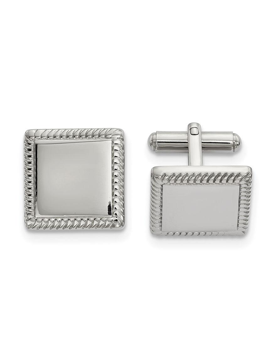 Chisel Silver Cufflinks