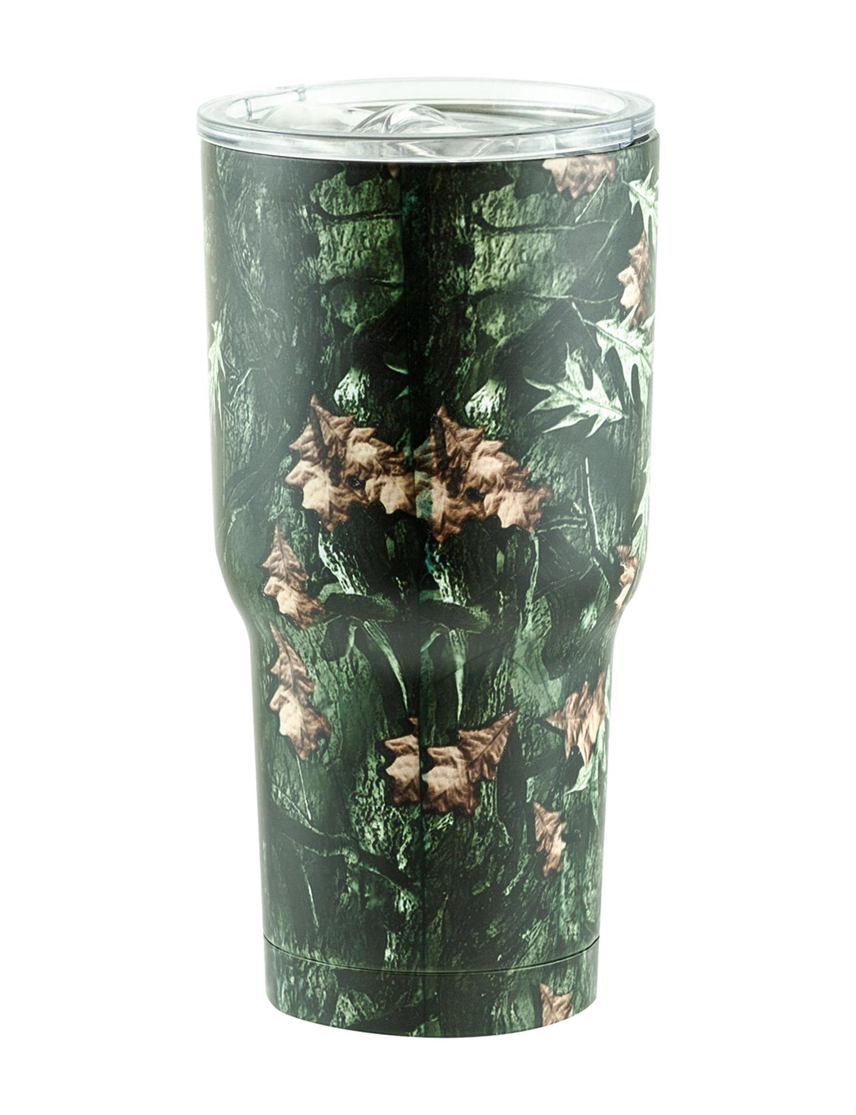 Snag Green Camo Drinkware