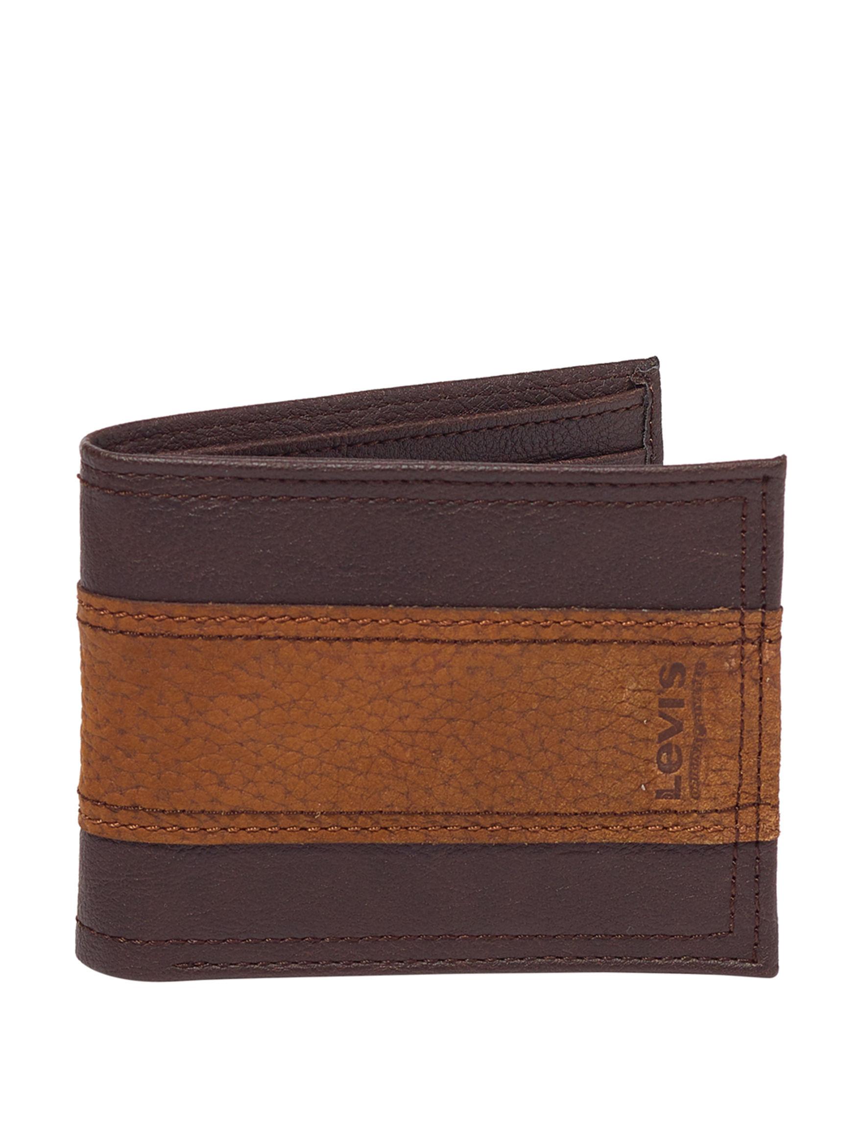 Levi's Brown Bi-fold Wallets