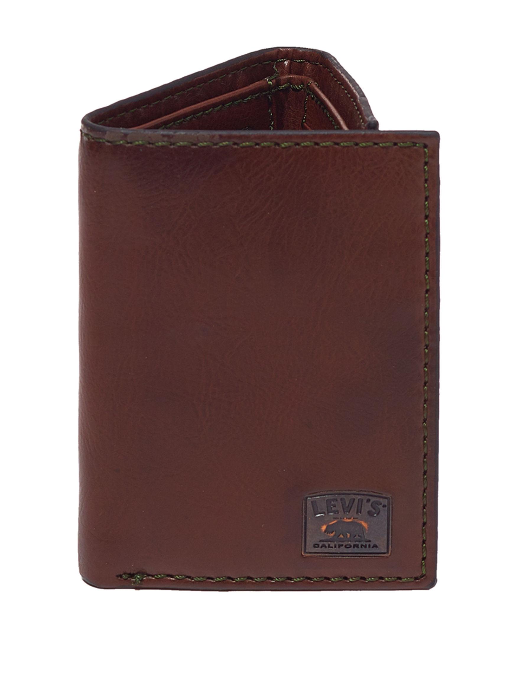 Levi's Brown Tri-fold Wallets