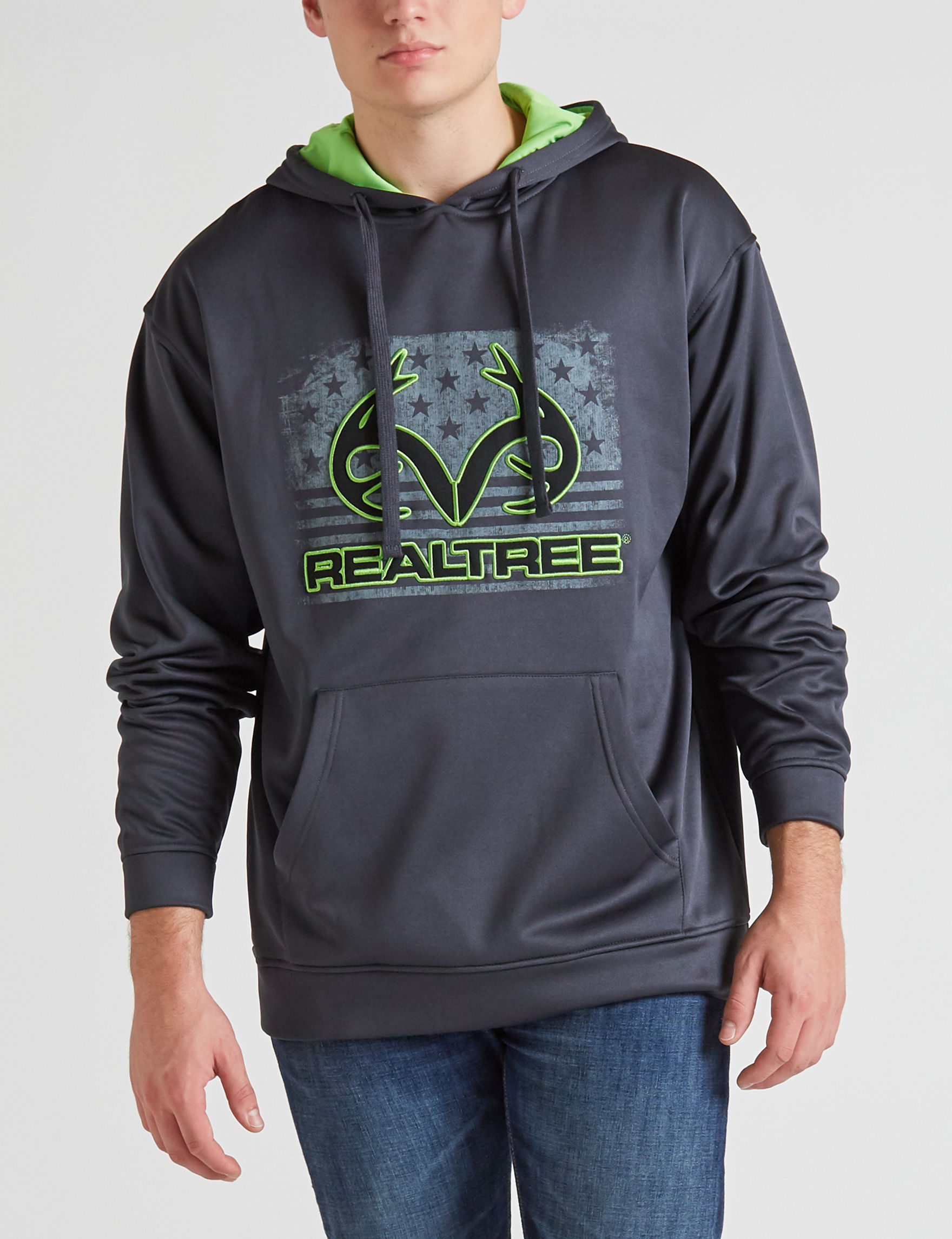 Realtree Grey / Green Pull-overs