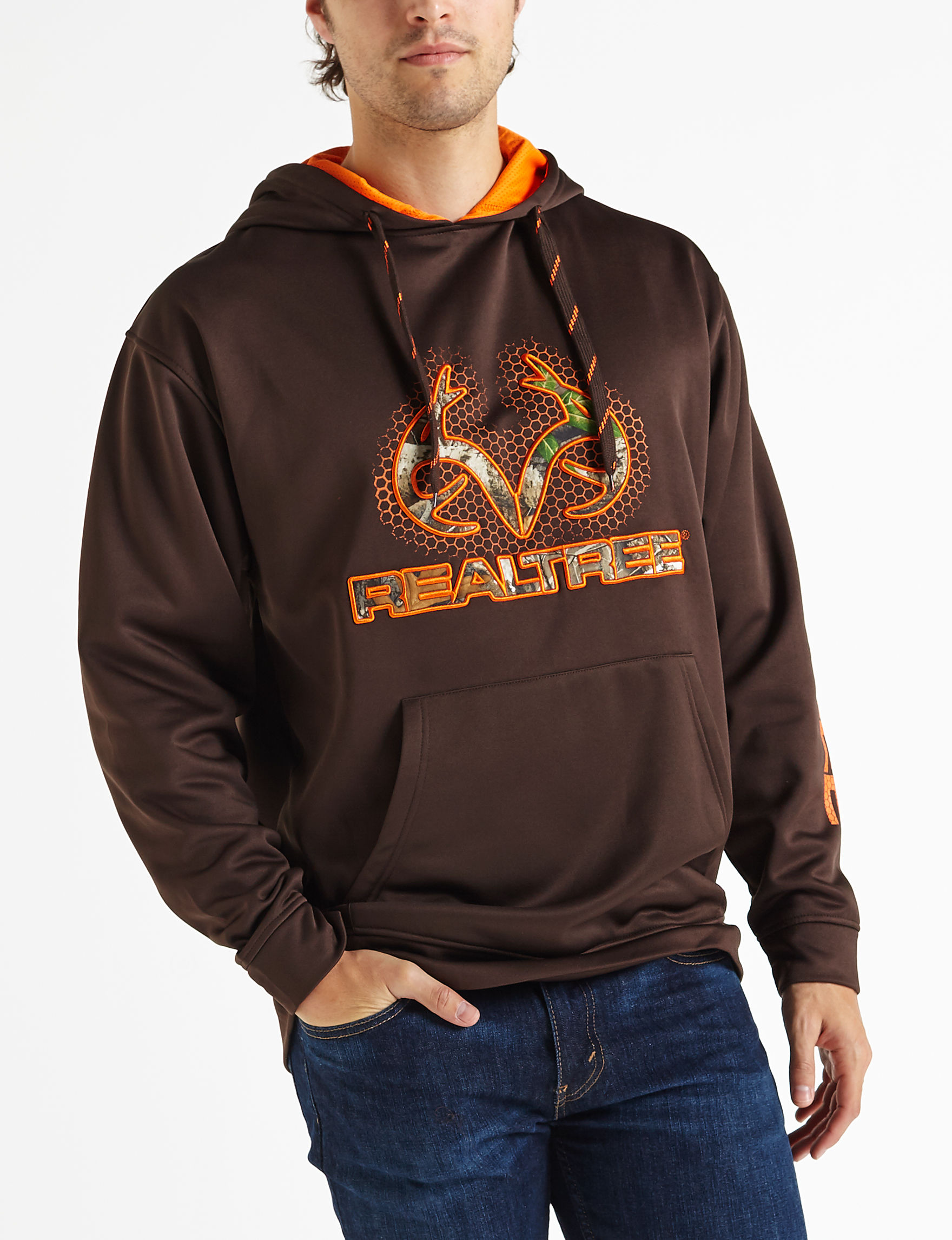 Realtree Brown / Orange Pull-overs