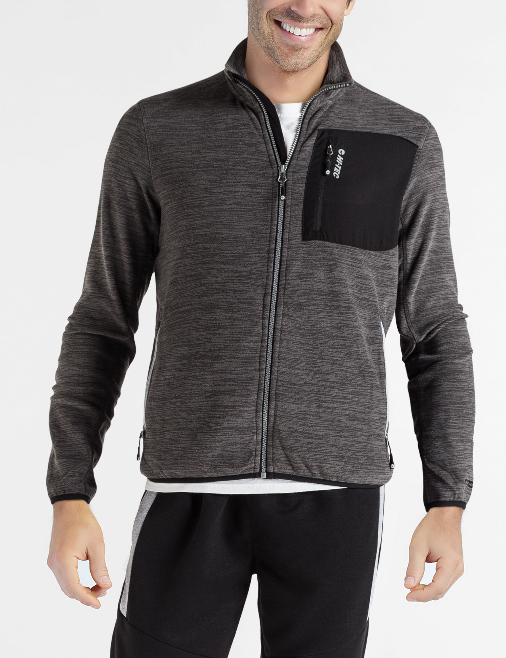 Hi-Tec Charcoal / Black Fleece & Soft Shell Jackets