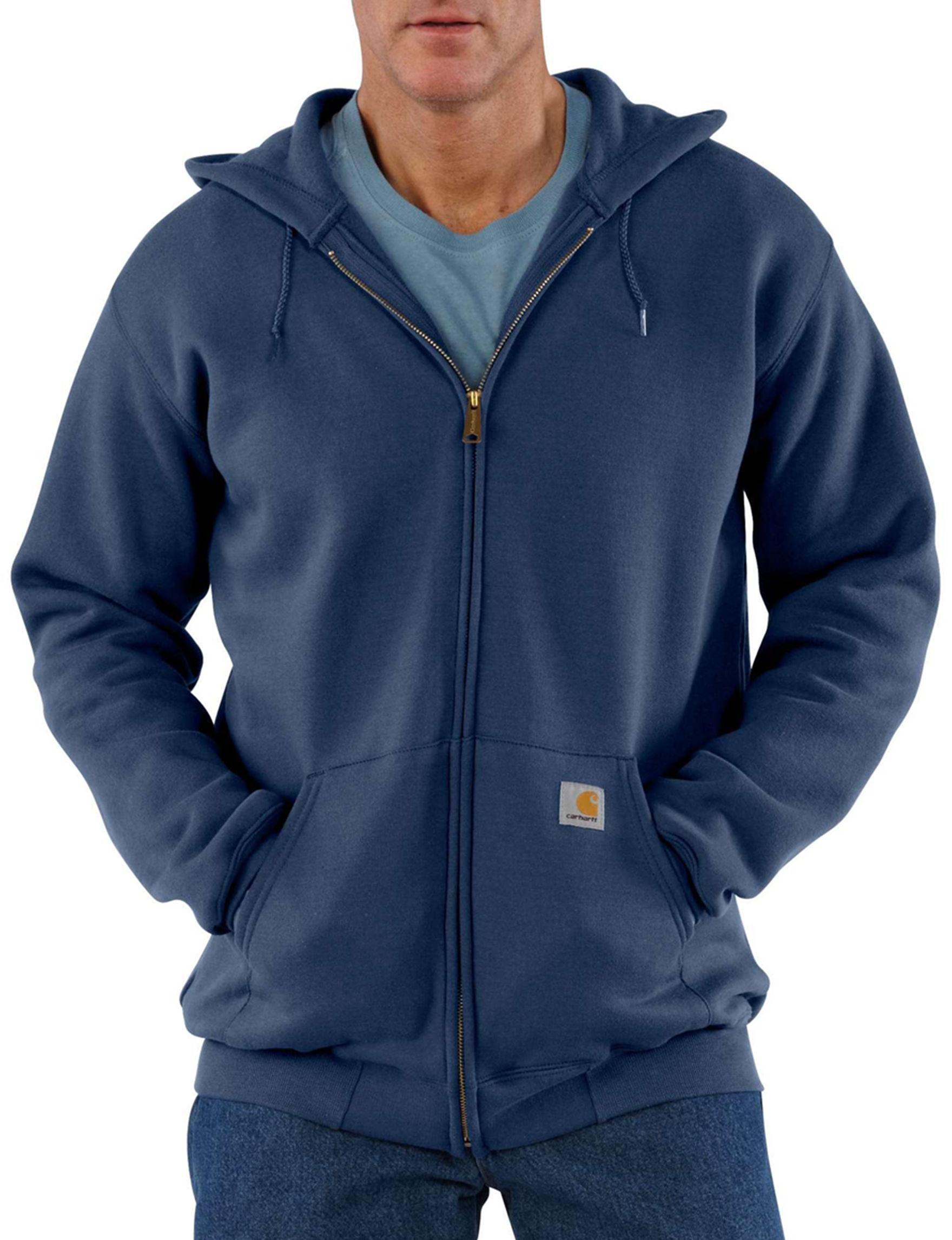 Carhartt Navy Fleece & Soft Shell Jackets Zip-Ups