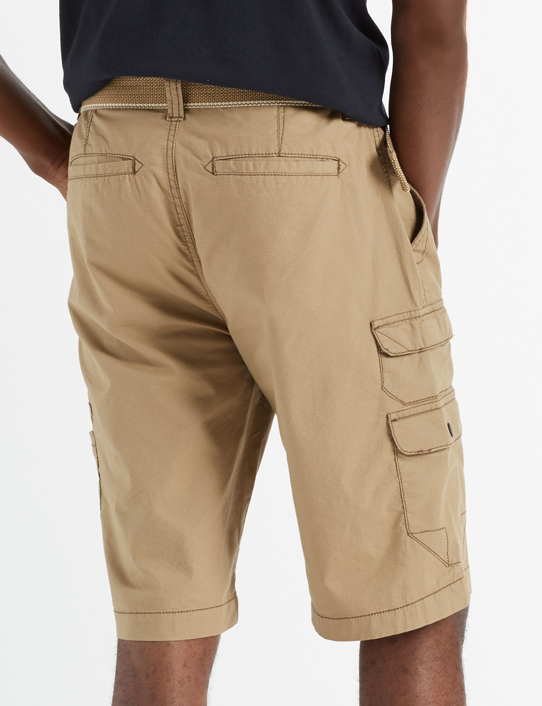 3d7981484c Plugg Men's Longhorn Belted Ripstop Cargo Shorts | Stage Stores
