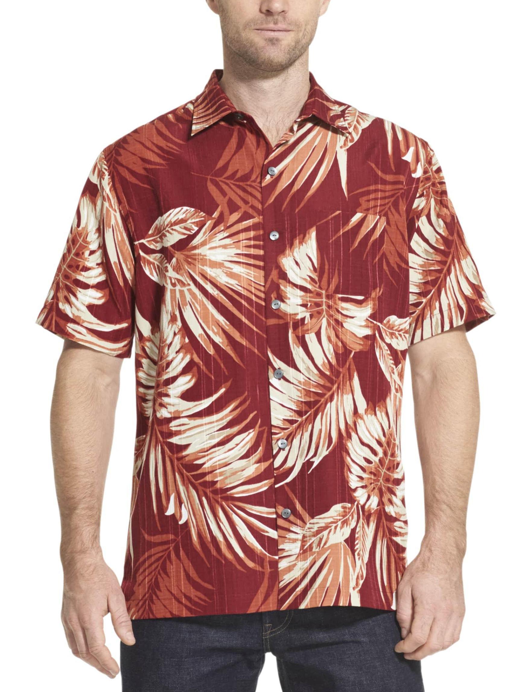 Van Heusen Red Casual Button Down Shirts