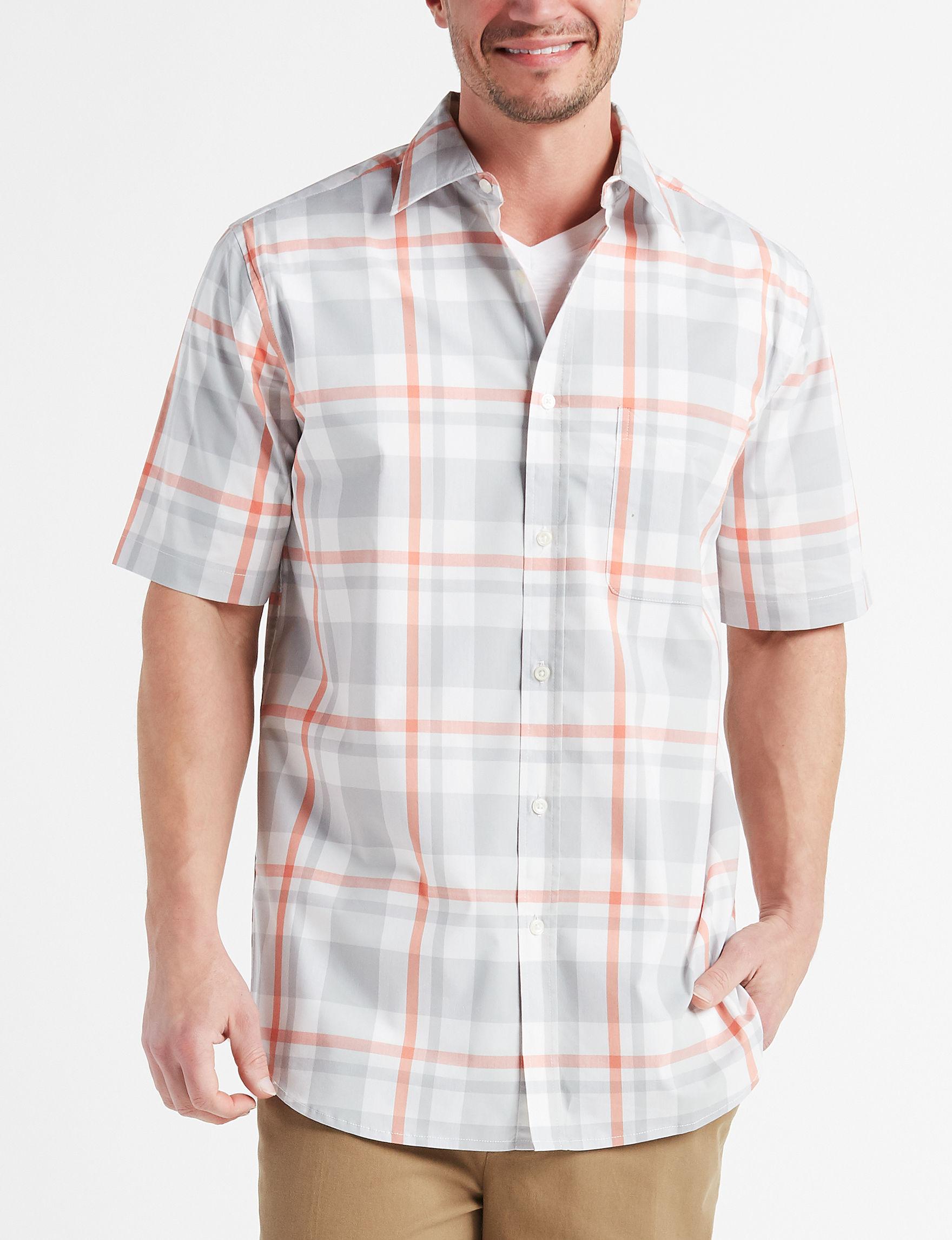 Sun River Blue Plaid Casual Button Down Shirts