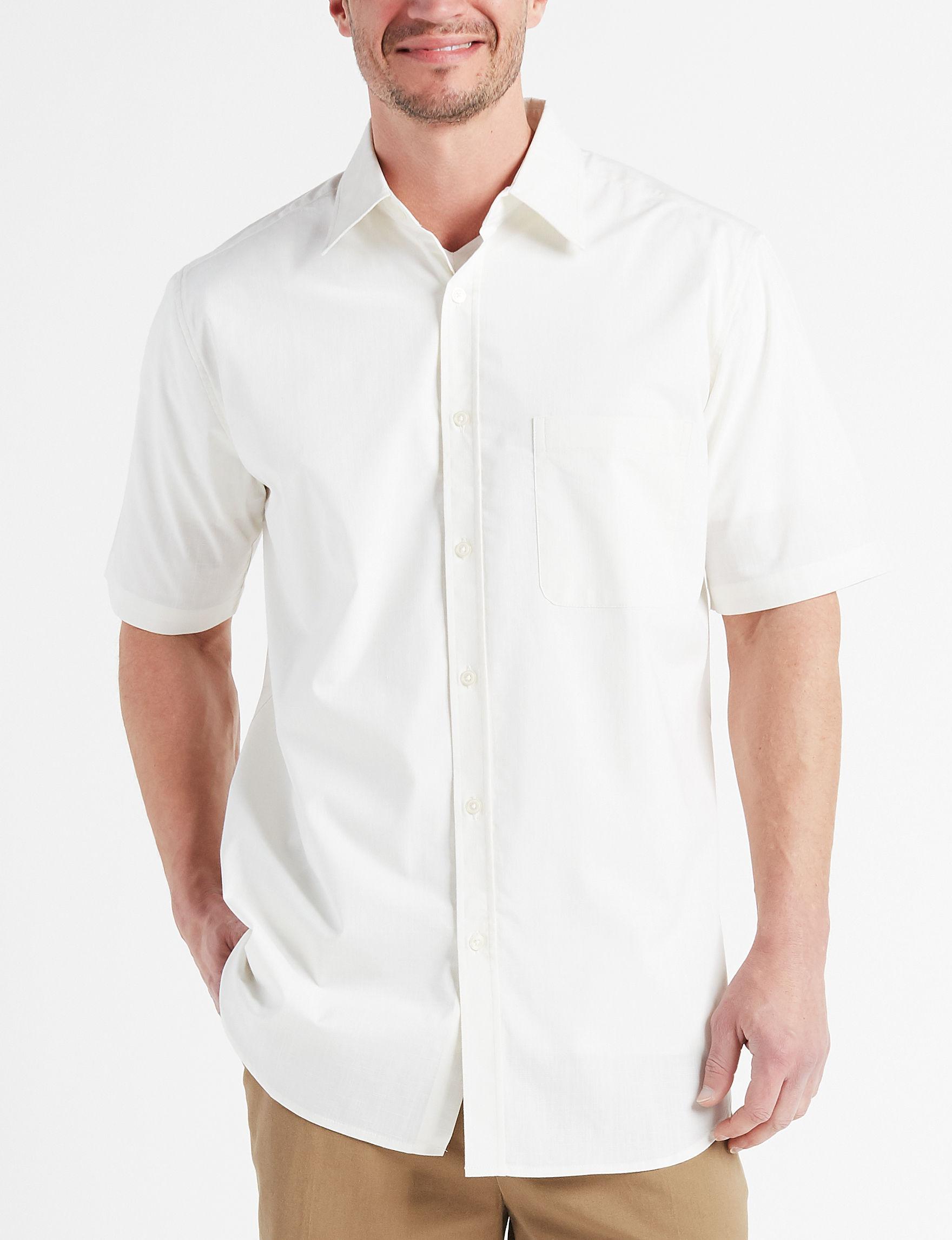 Sun River Cream Casual Button Down Shirts