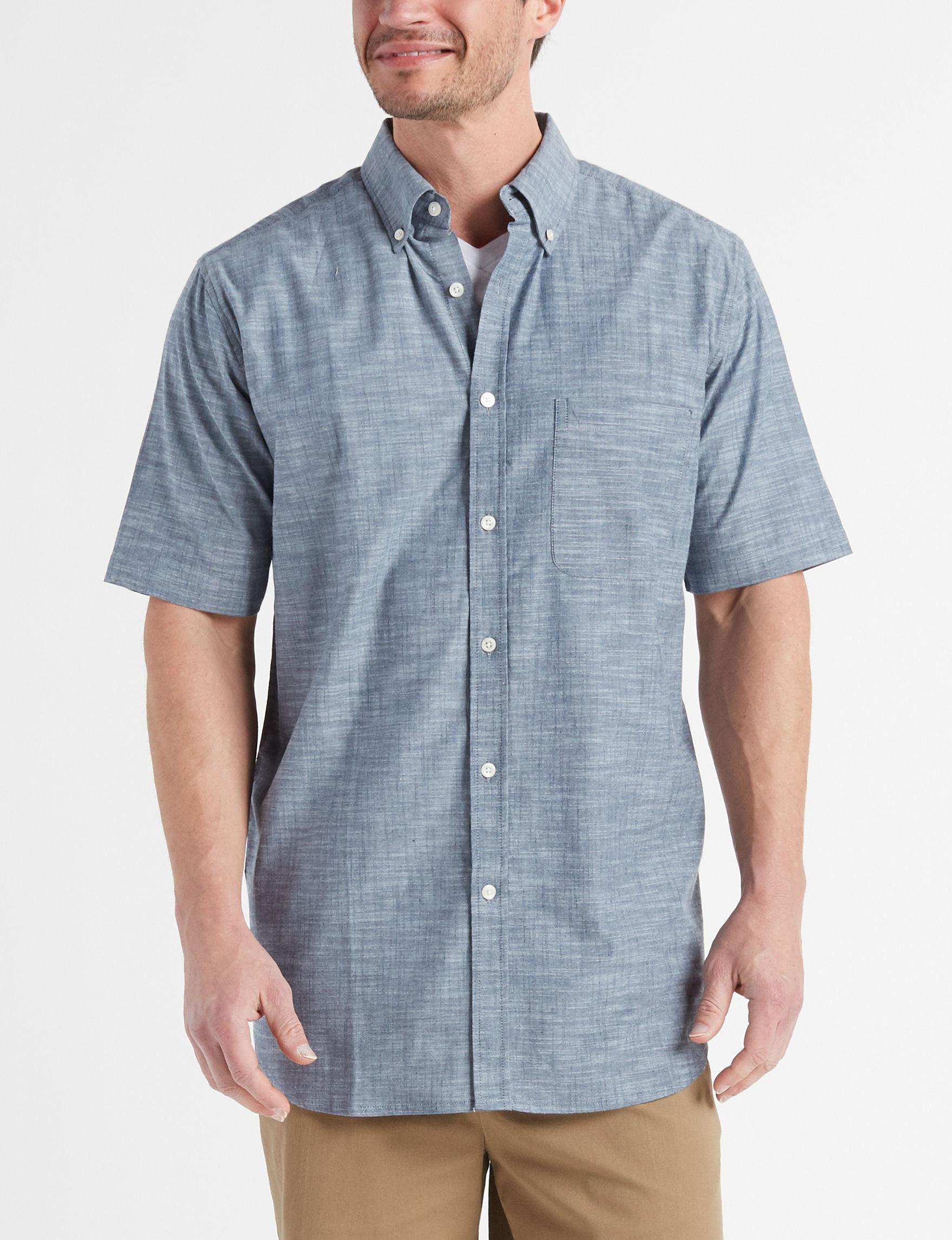 Sun River Indigo Casual Button Down Shirts