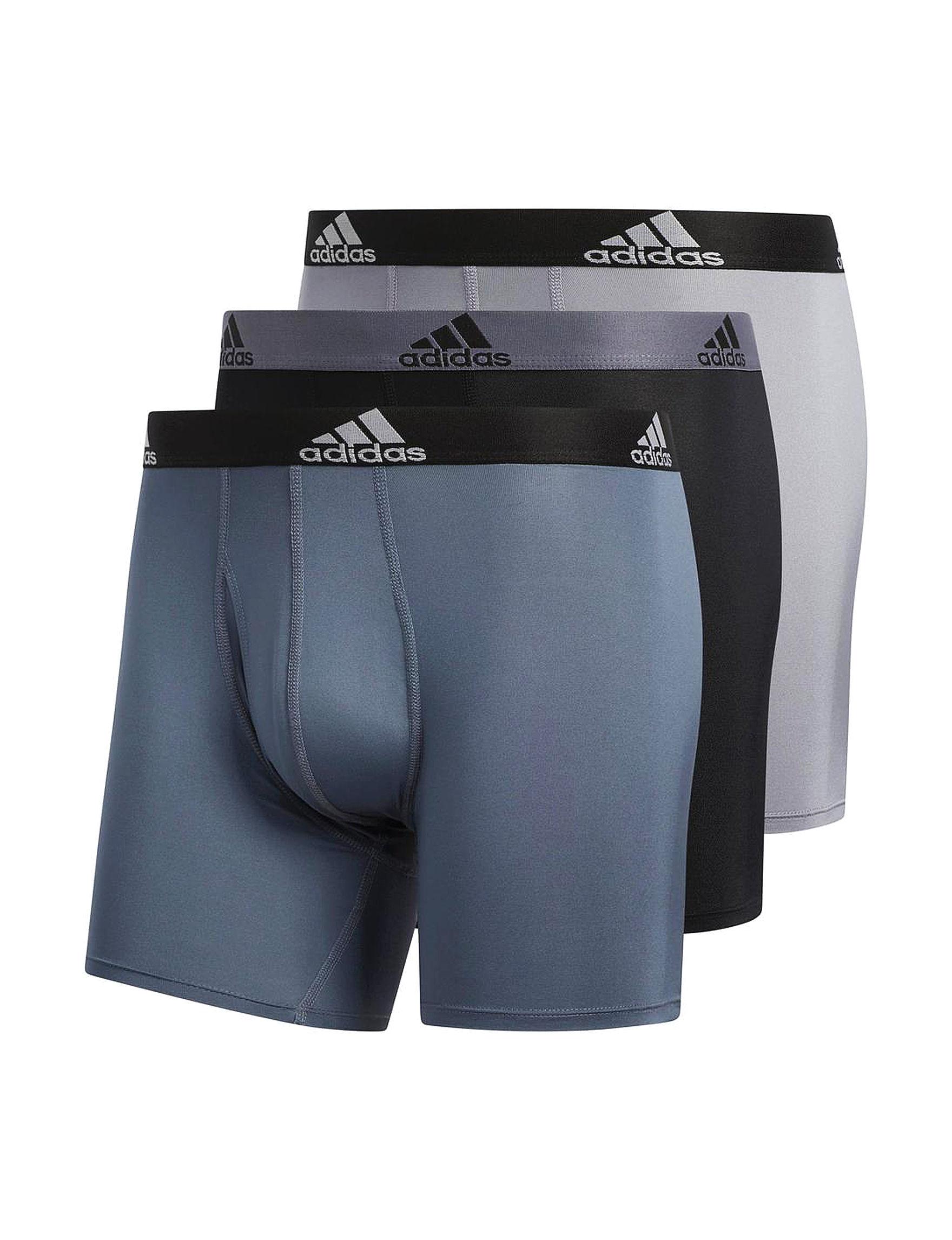 Adidas Grey Boxer Briefs