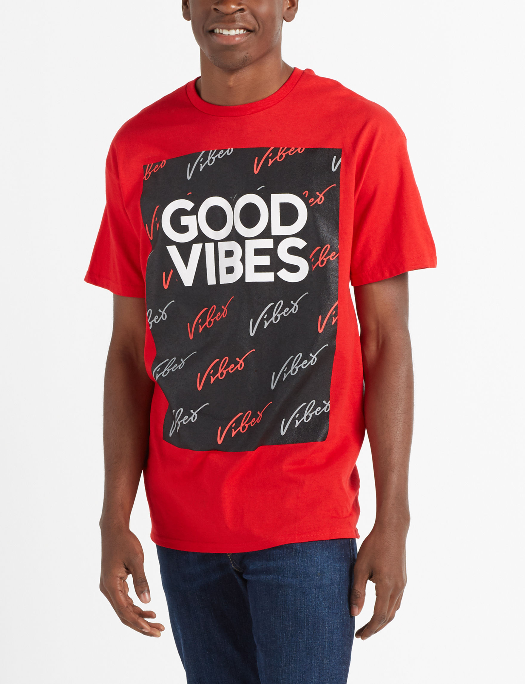 Vibes Red Tees & Tanks