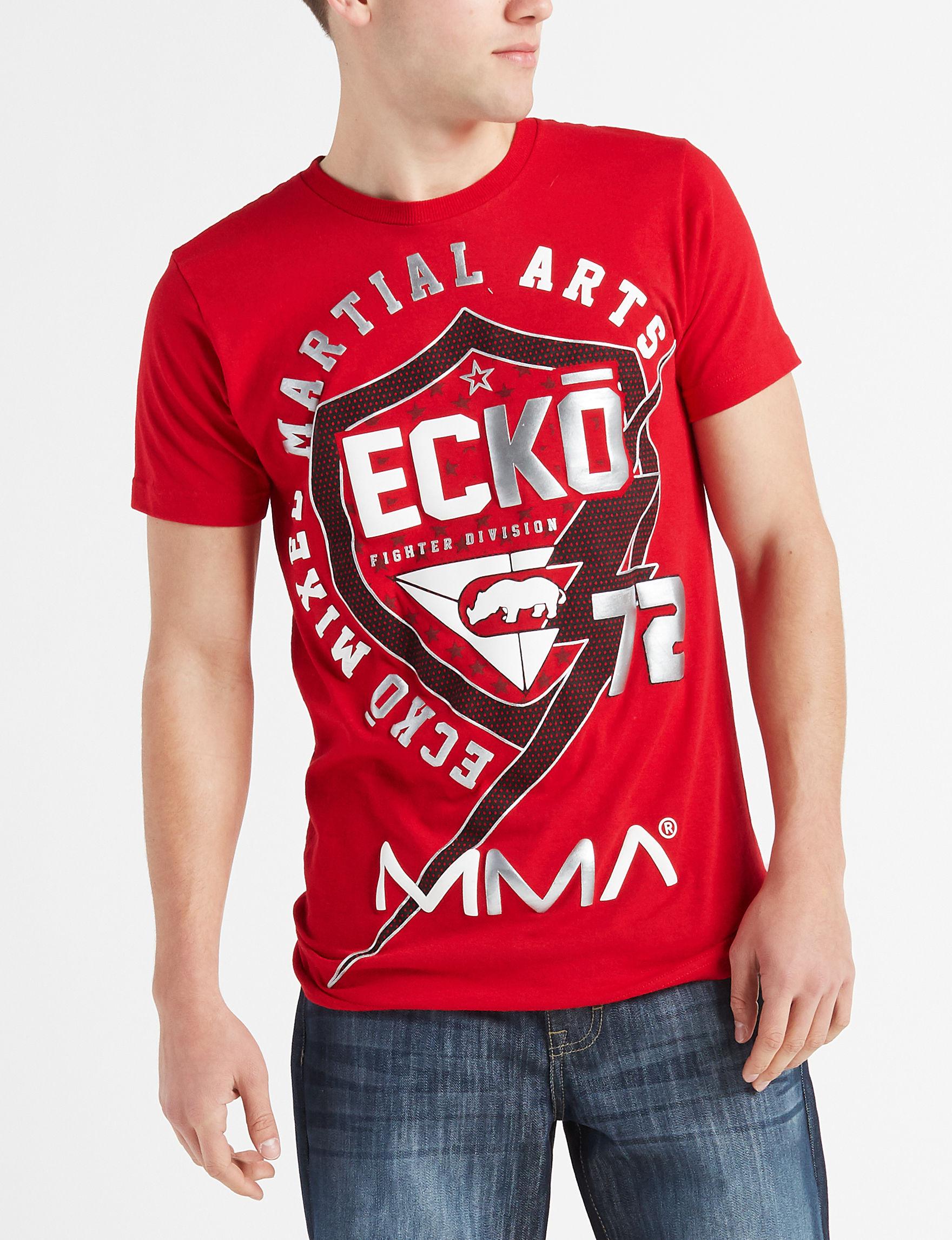 Ecko Red / Black / White Tees & Tanks