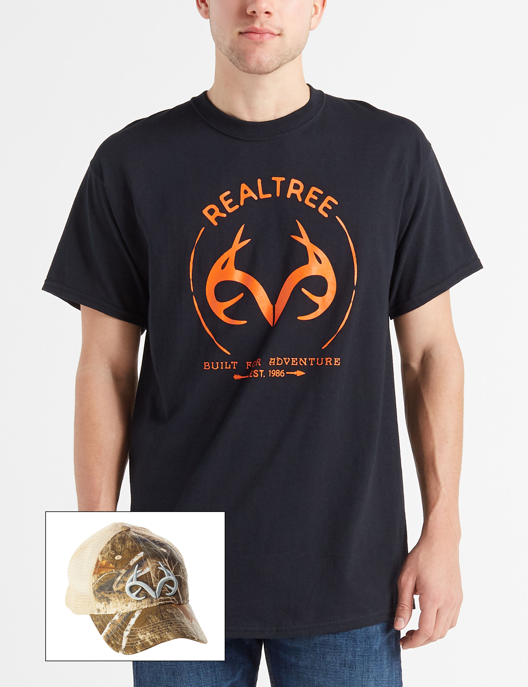 Realtree Black Camo Hats & Headwear Tees & Tanks
