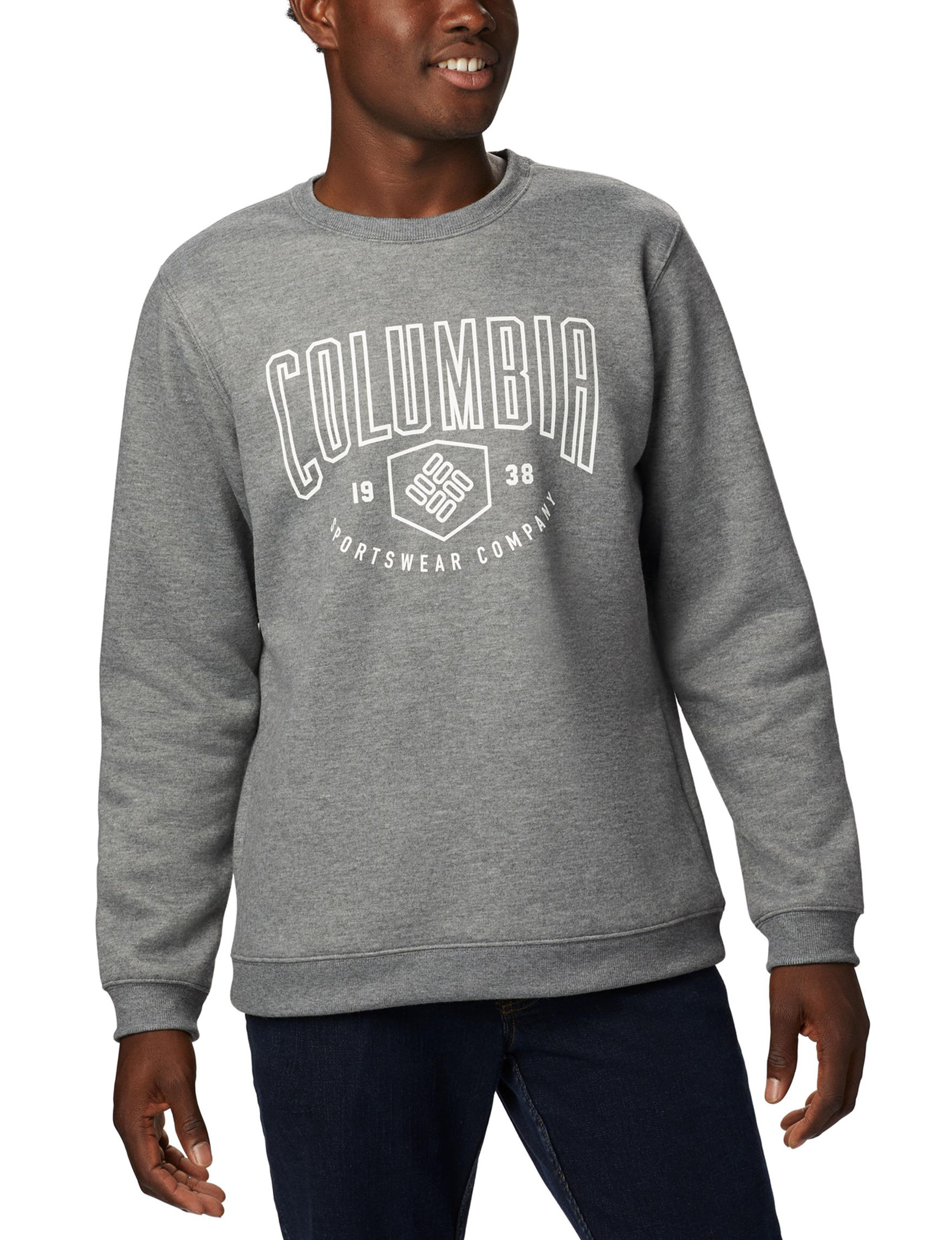 Columbia Charcoal Heather Pull-overs
