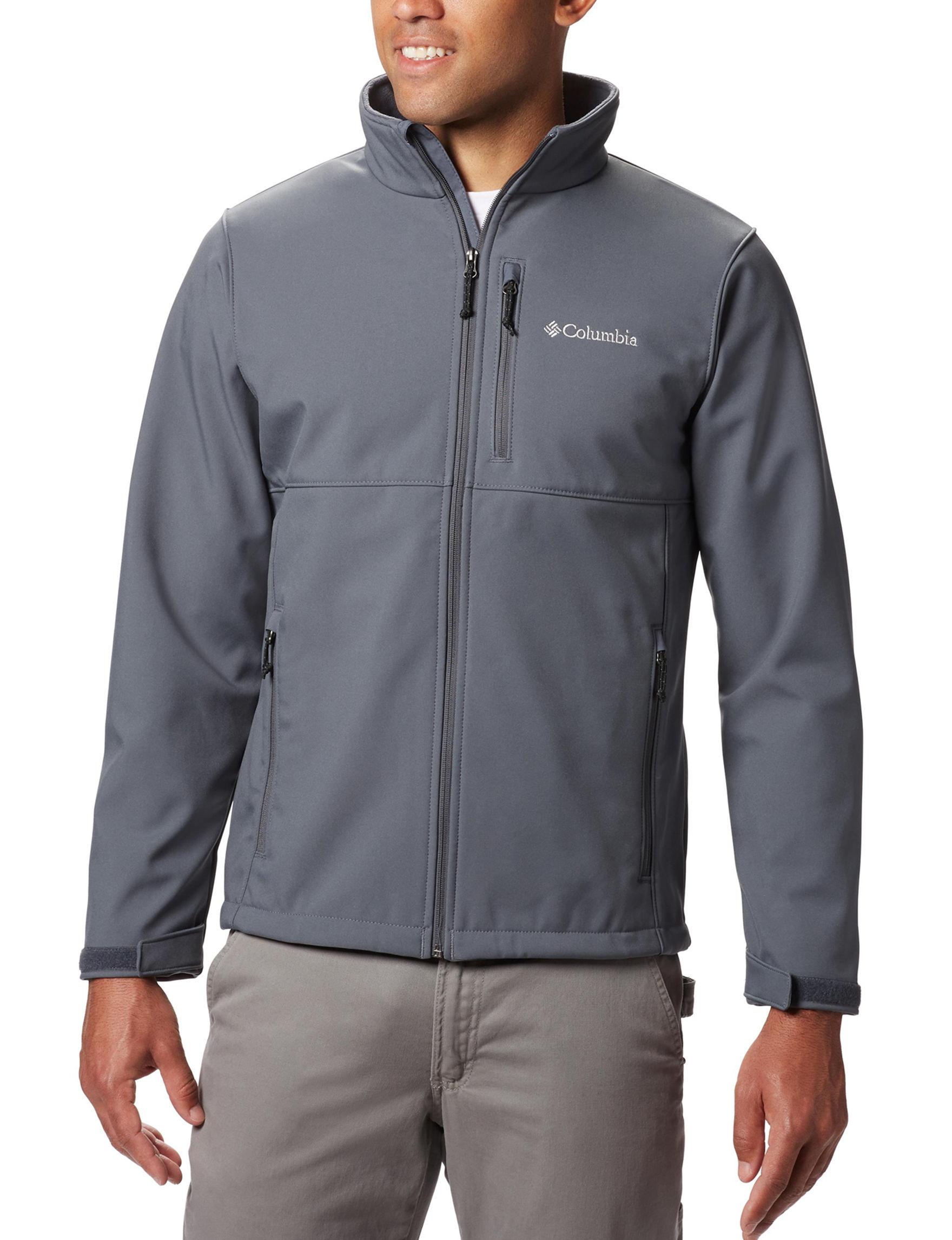 Columbia Charcoal Lightweight Jackets & Blazers