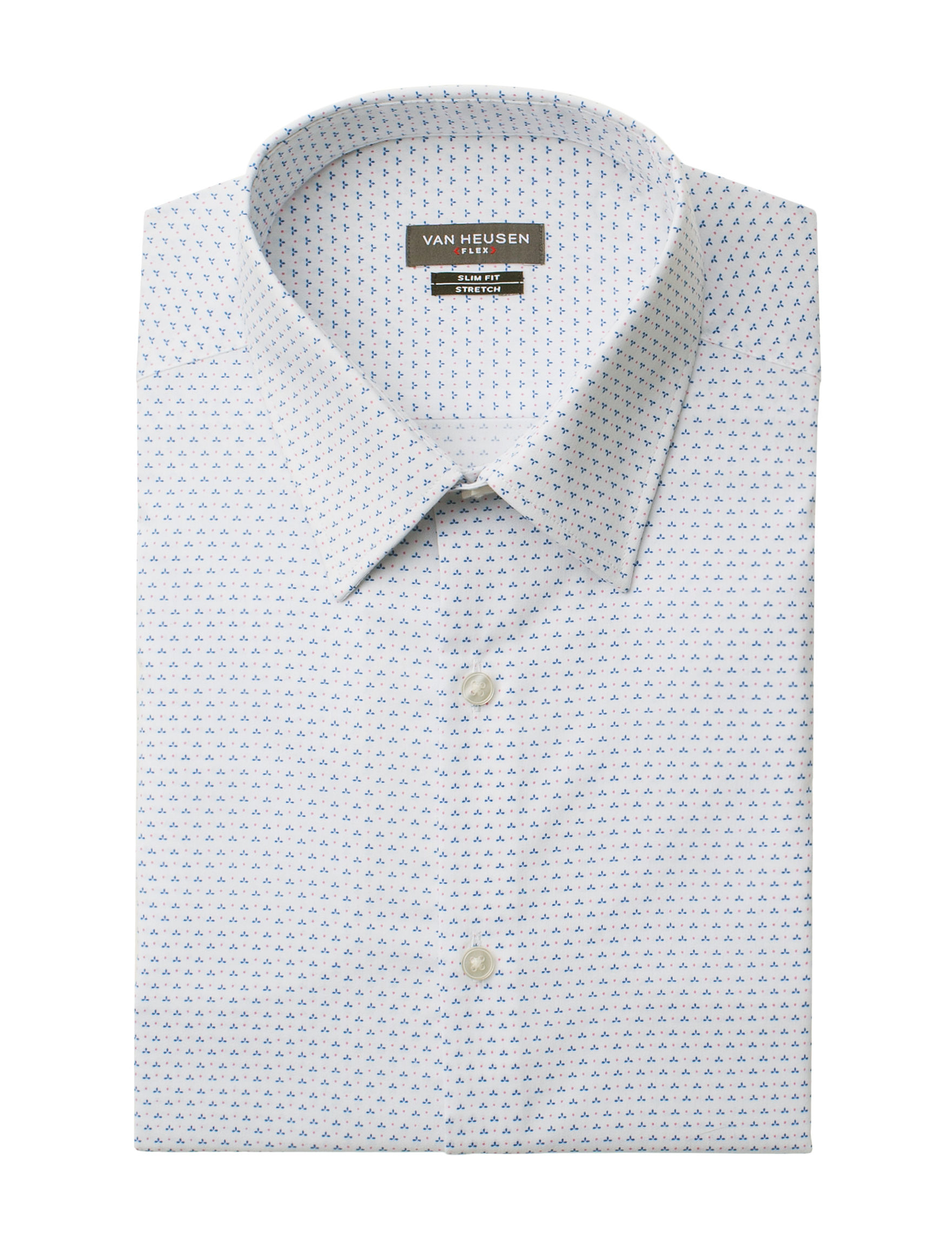 Van Heusen White Multi Dress Shirts