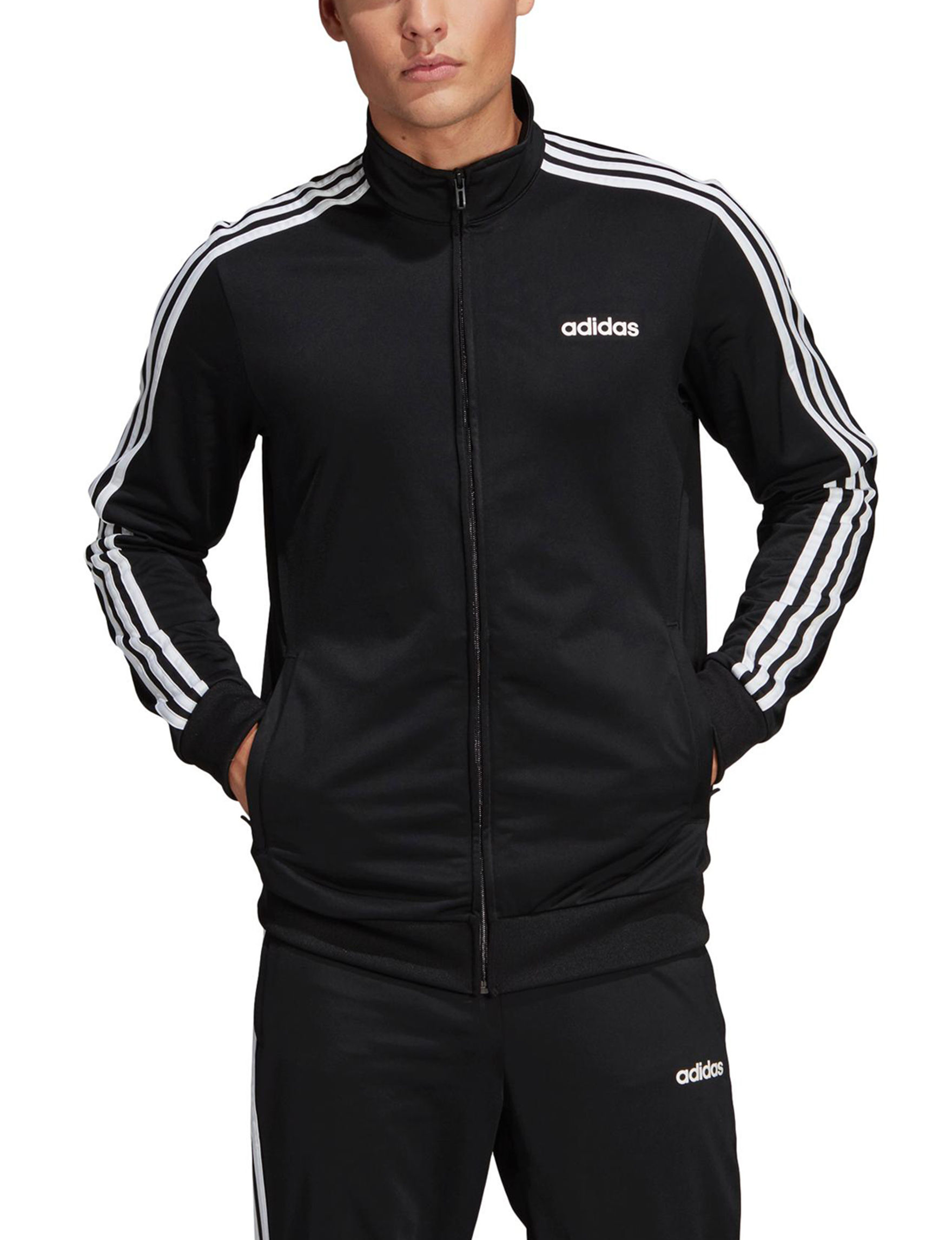 Adidas Black /  White Lightweight Jackets & Blazers
