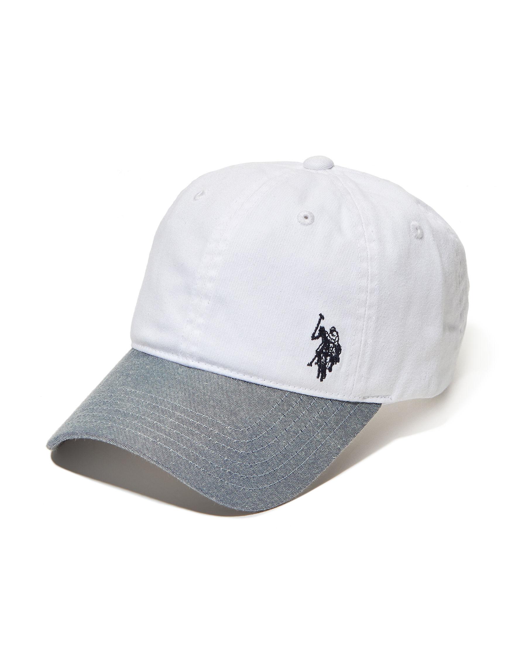 U.S. Polo Assn. White / Navy Hats & Headwear