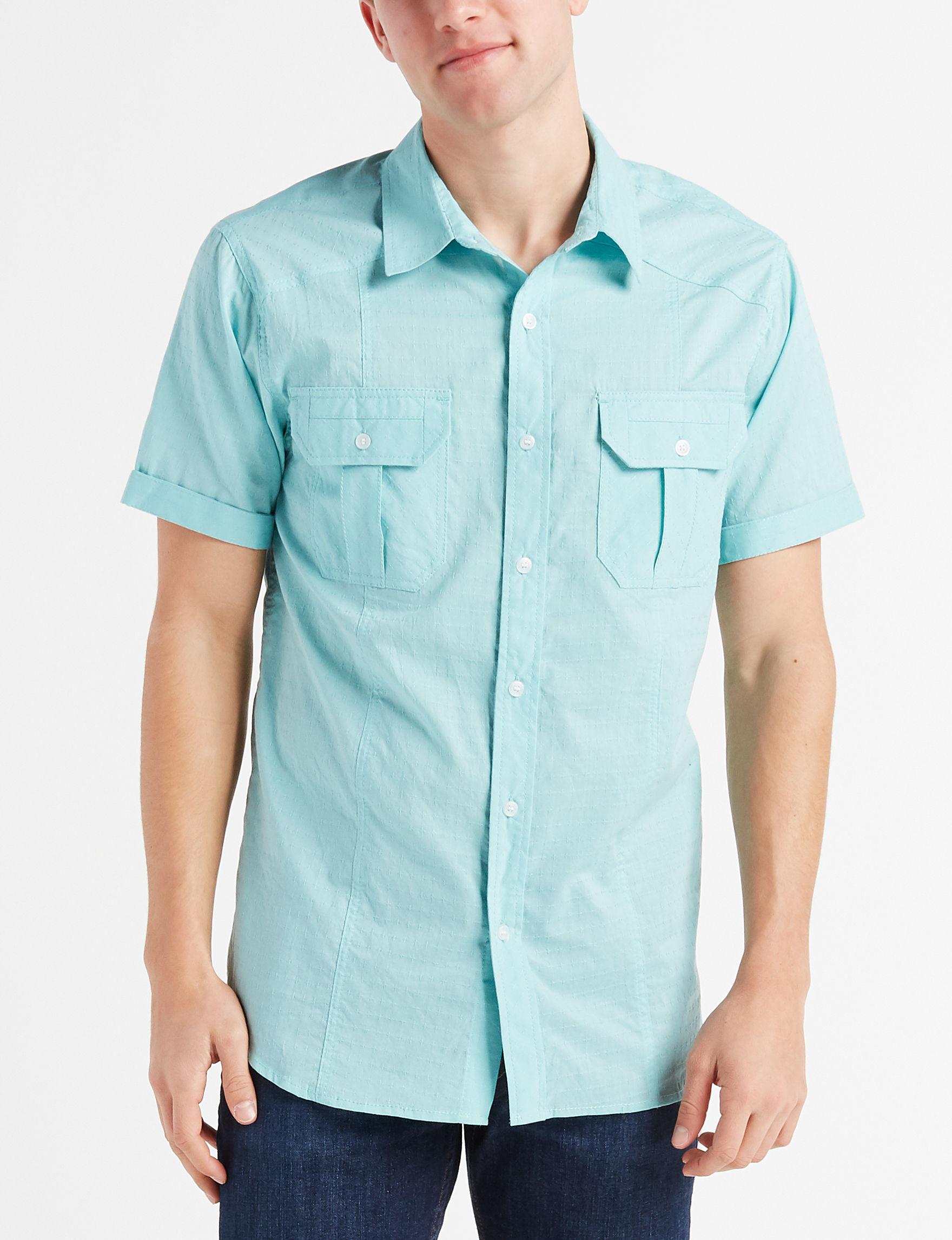 Surplus Light Grey Casual Button Down Shirts