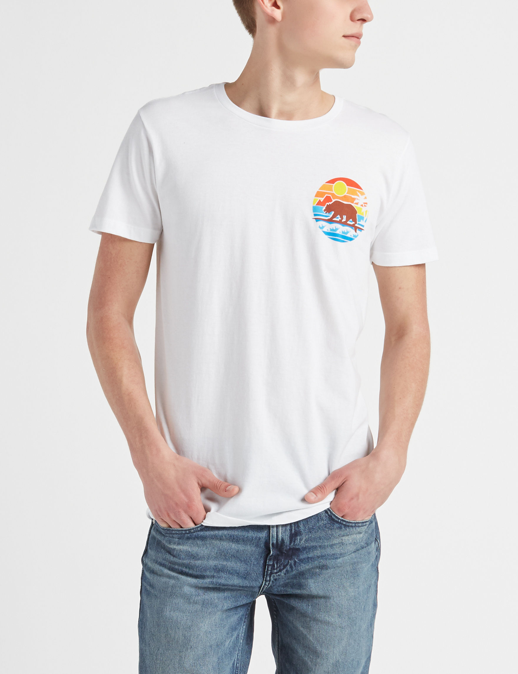 Ocean Current White Multi Tees & Tanks