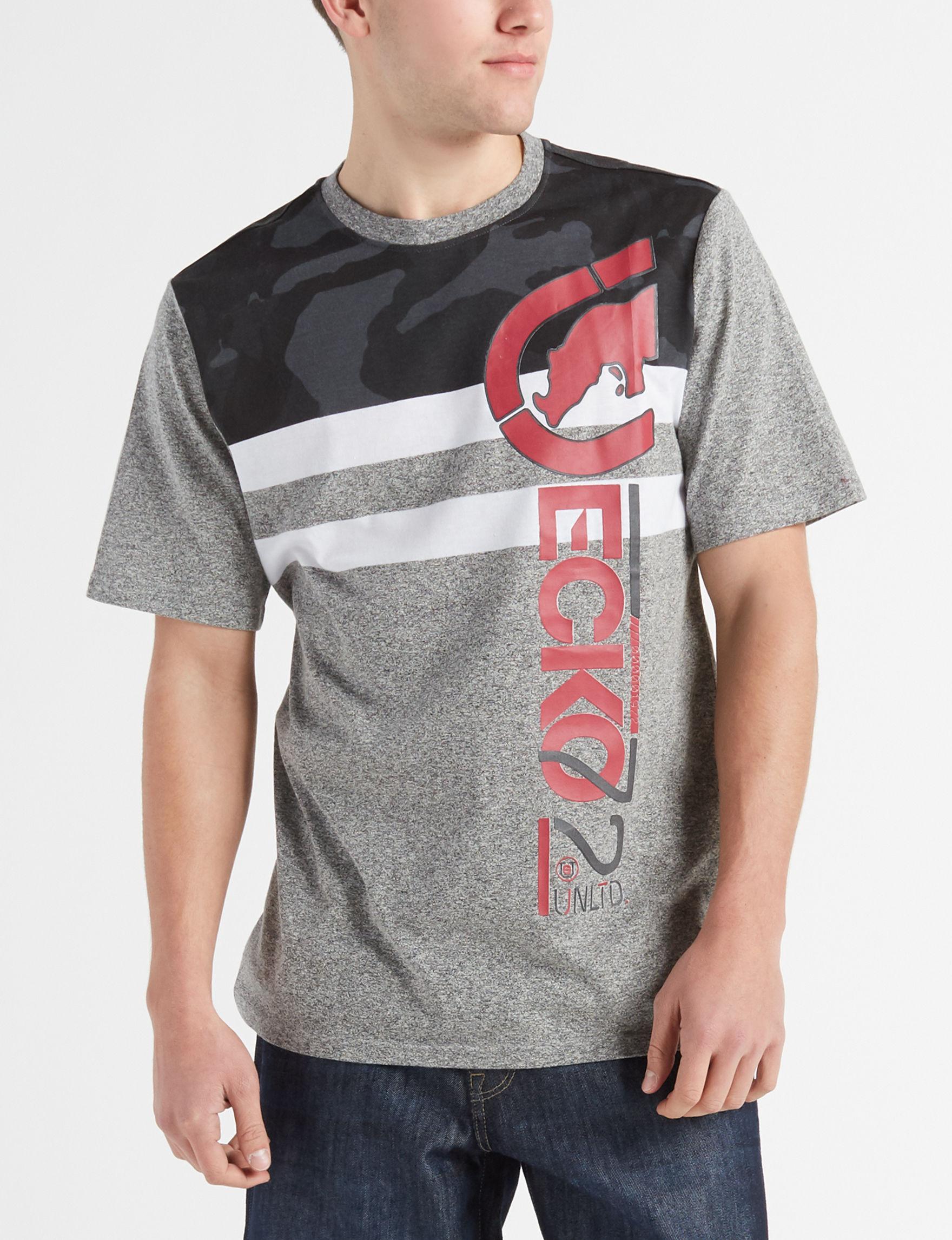 Ecko Grey / Multi Tees & Tanks