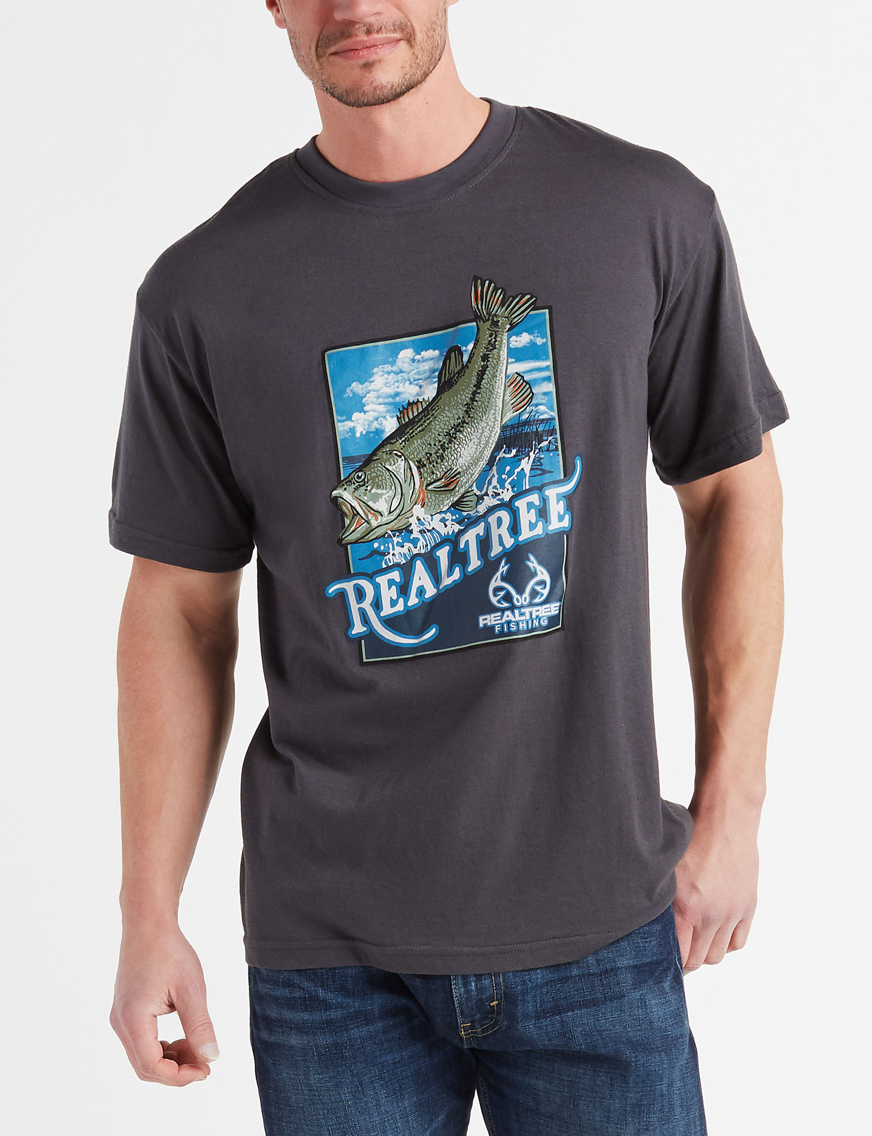 Realtree Dark Grey Tees & Tanks