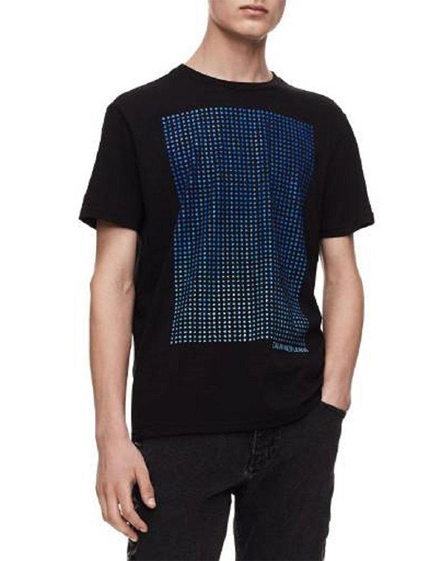 Calvin Klein Black / Blue Tees & Tanks