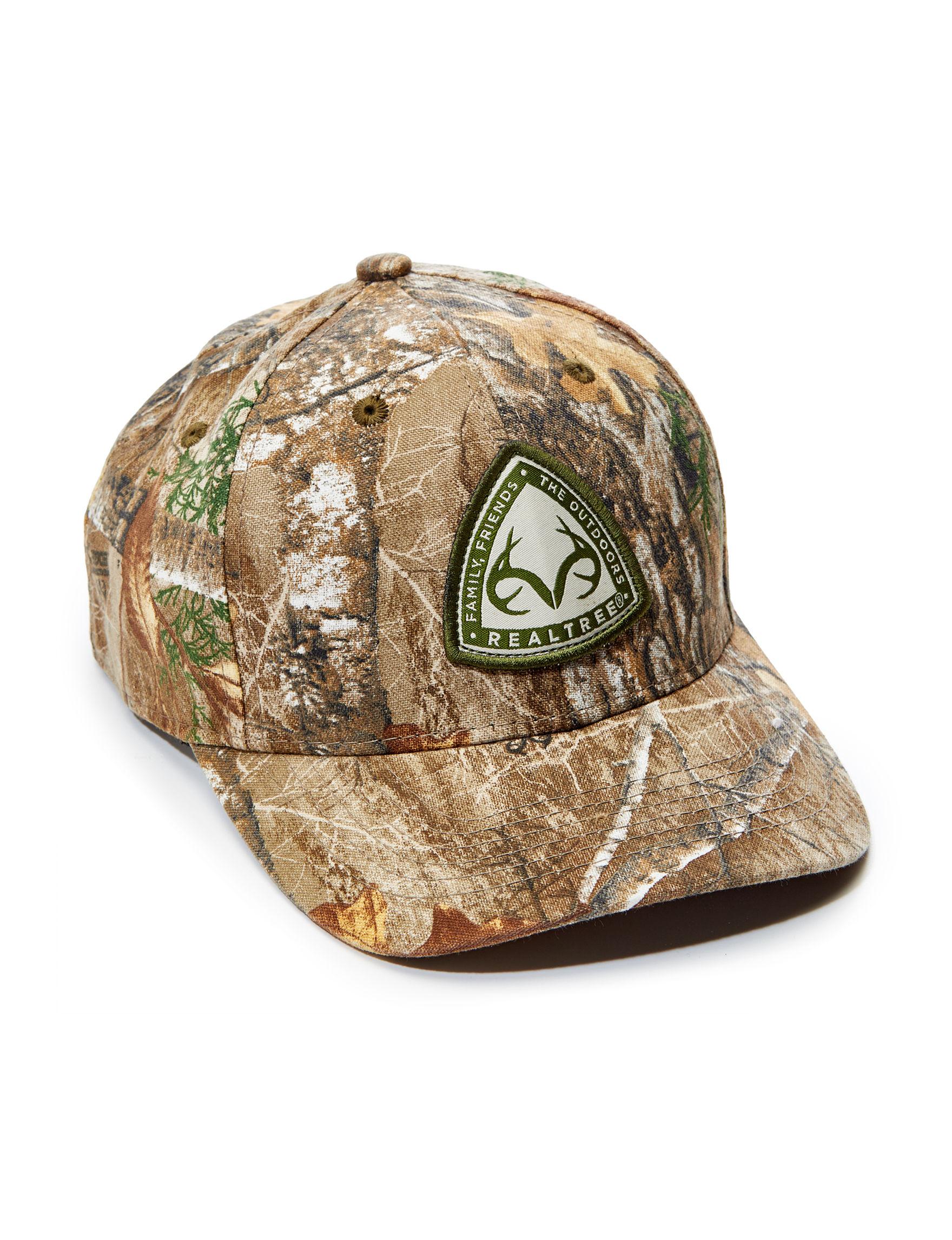 Realtree Green / Brown Hats & Headwear