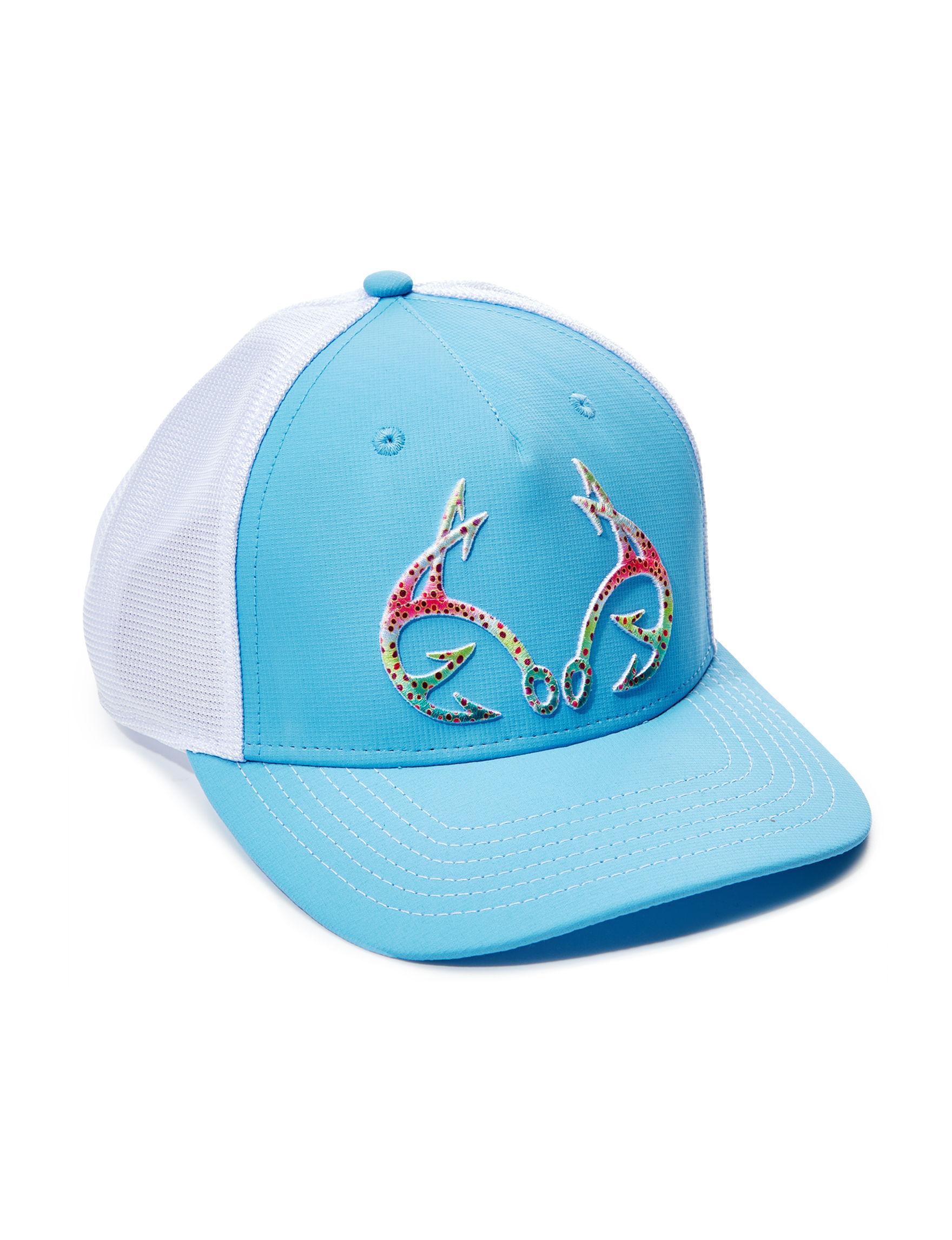 Realtree Light Blue / White Hats & Headwear Baseball Caps