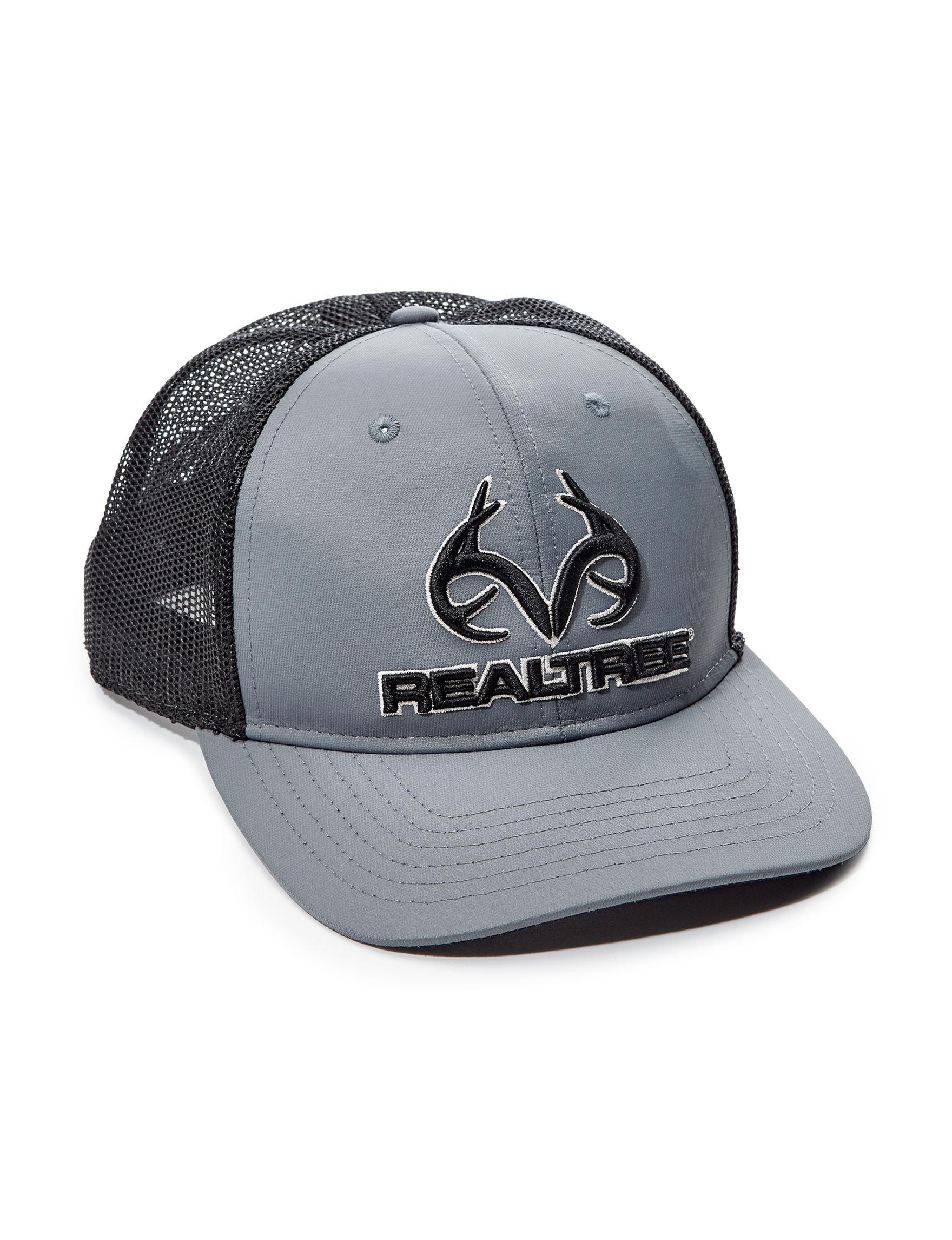 Realtree Grey / Black Hats & Headwear Baseball Caps