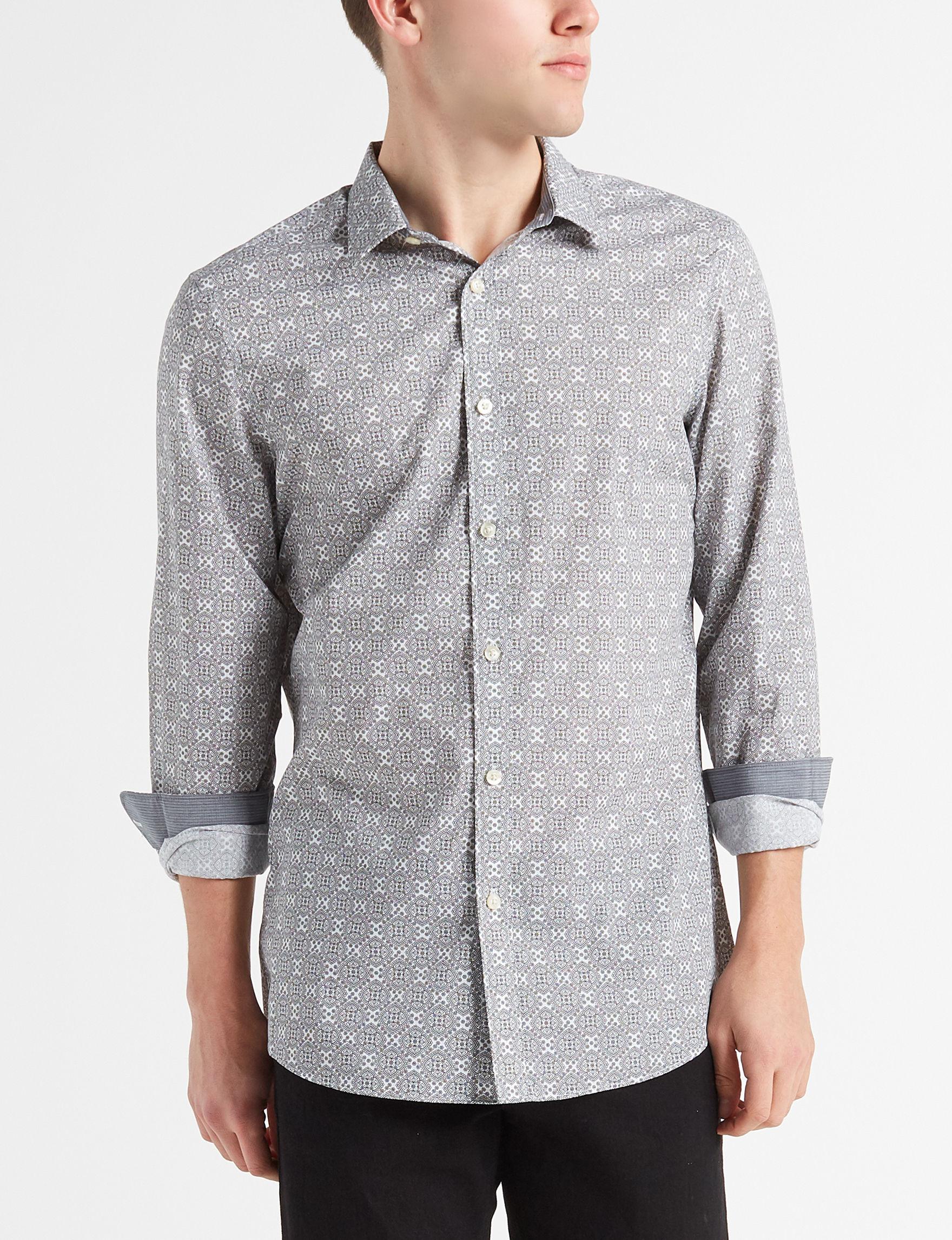 Axist White Casual Button Down Shirts